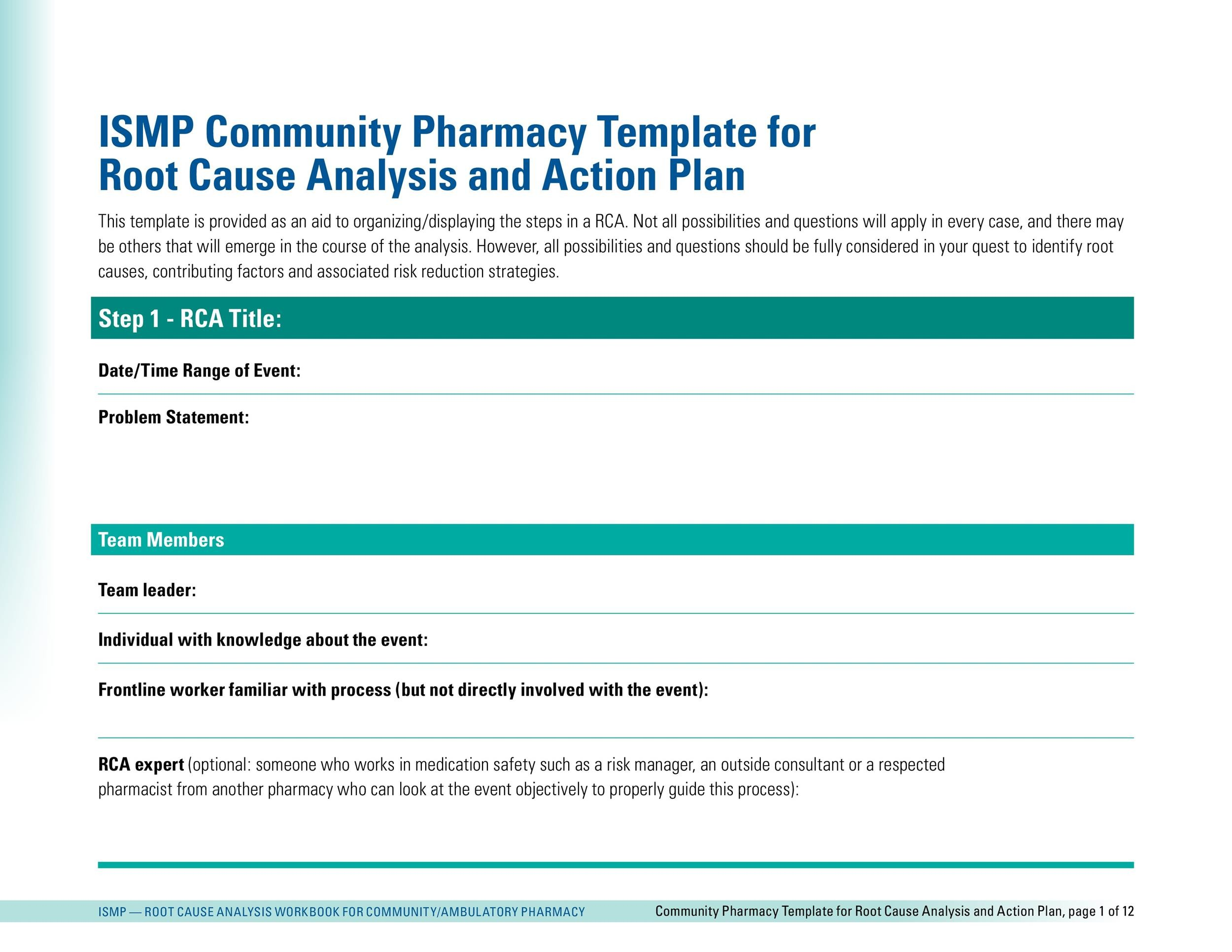 Free Action plan template 10