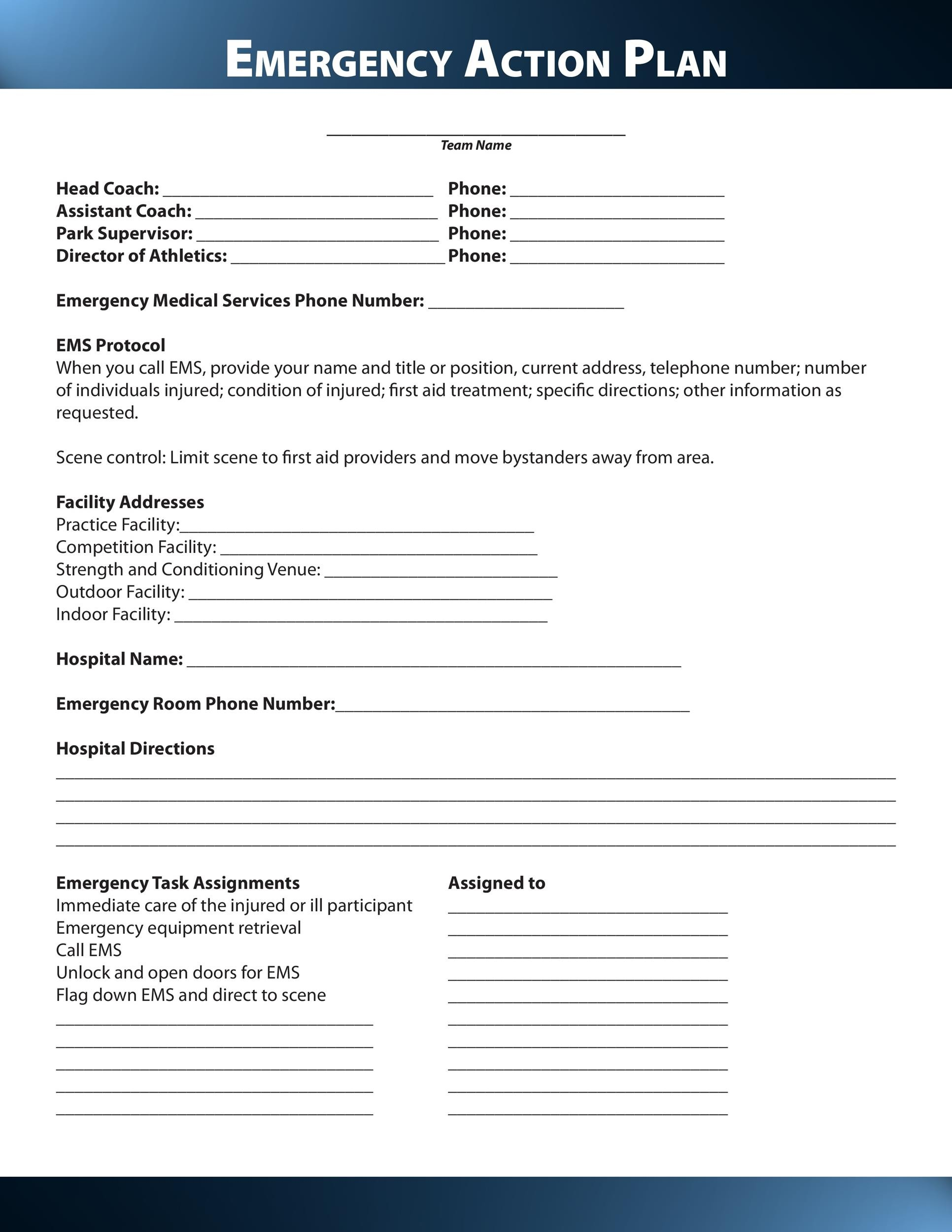 Free Action plan template 14