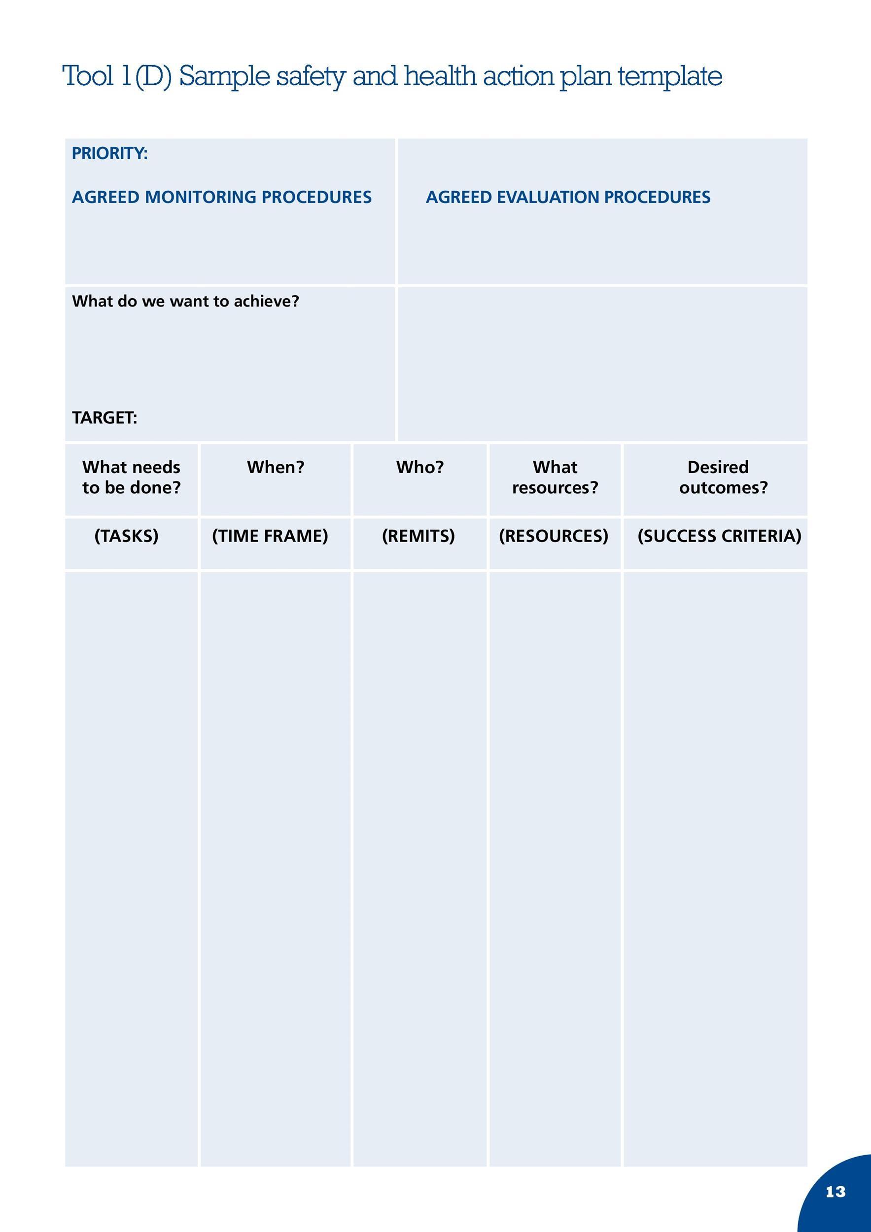 45 Free Action Plan Templates (Corrective, Emergency ...
