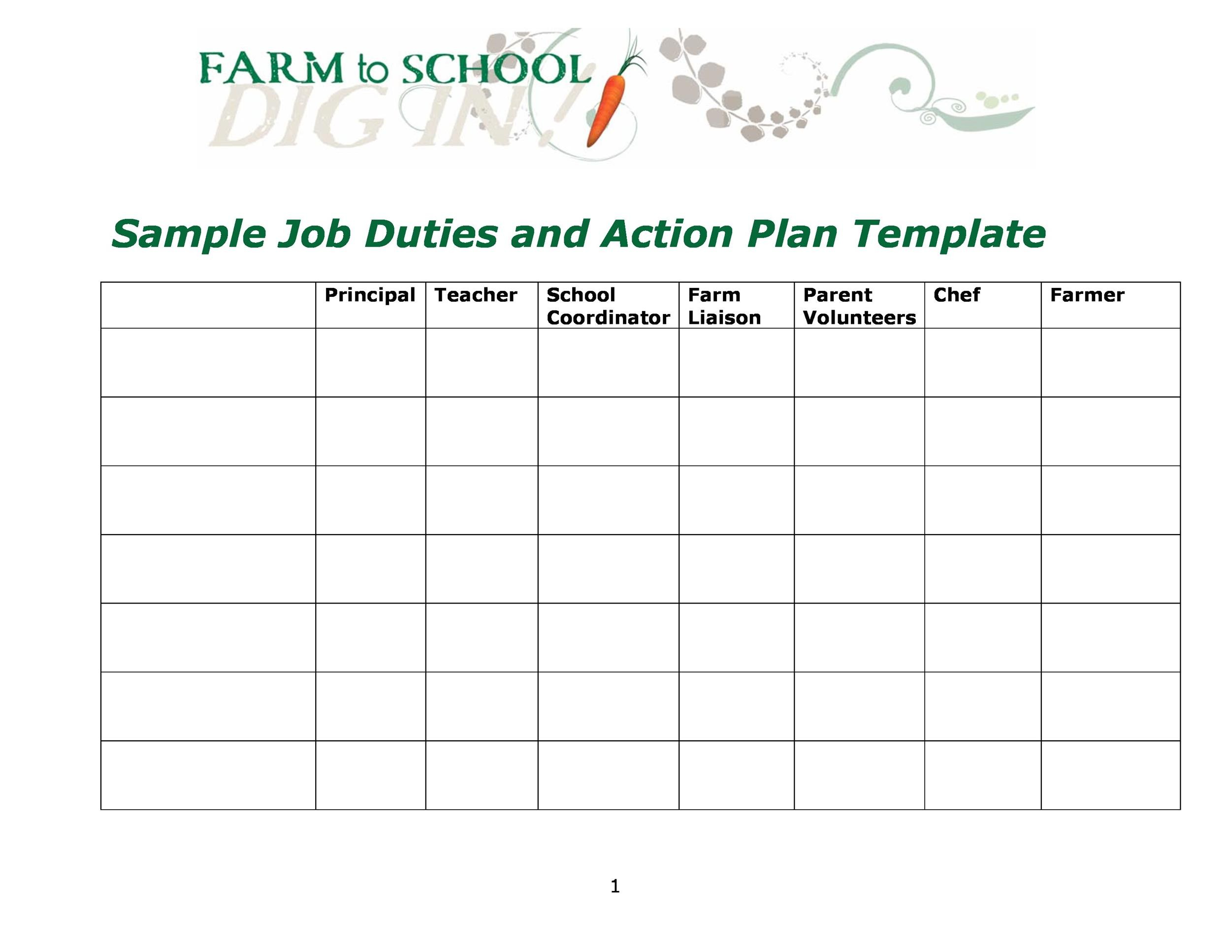 Free Action plan template 27
