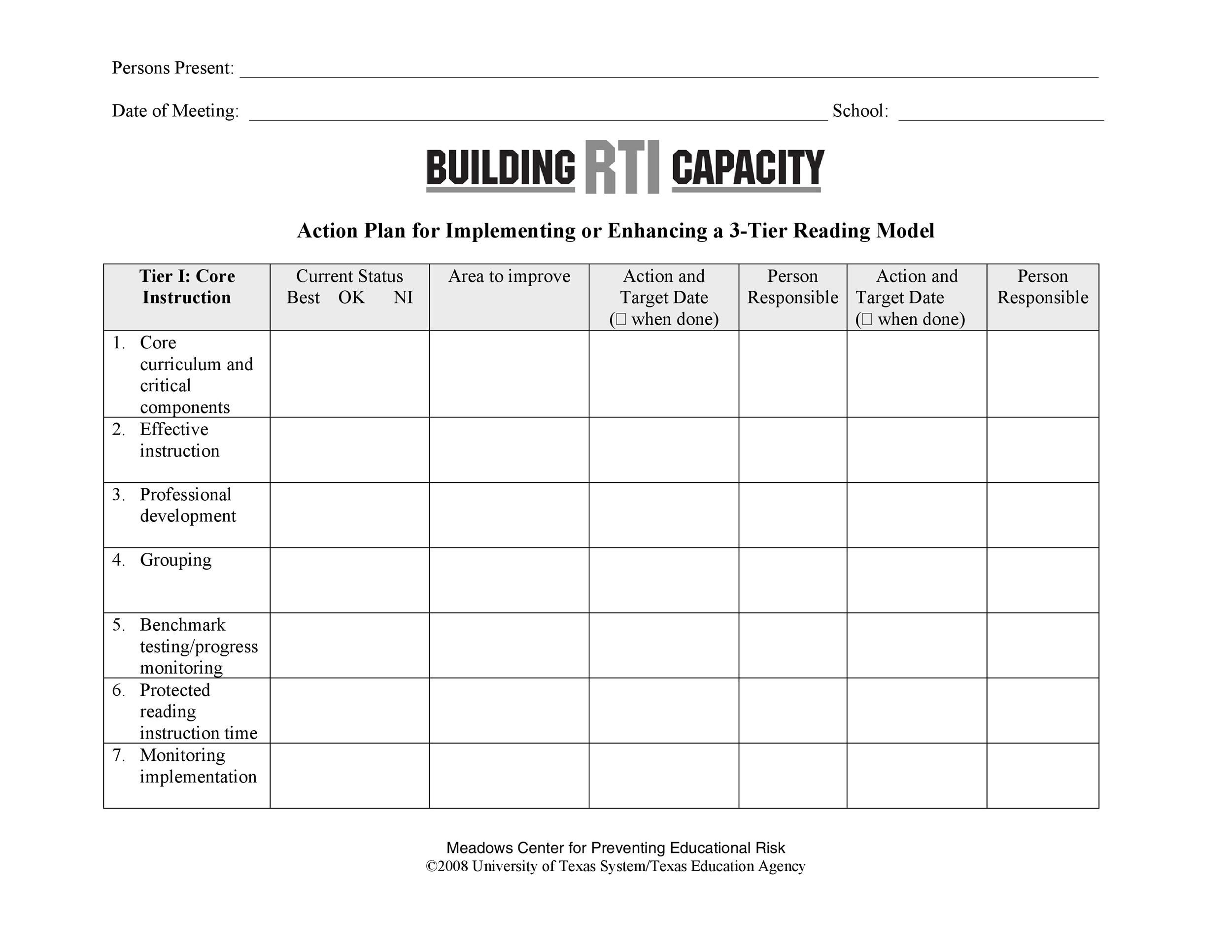 Free Action plan template 32