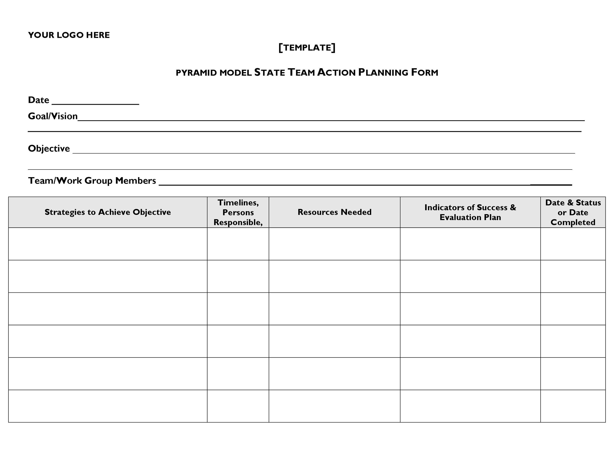 Free Action plan template 35