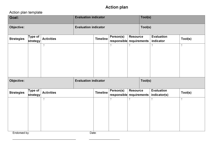 Free Action plan template 36