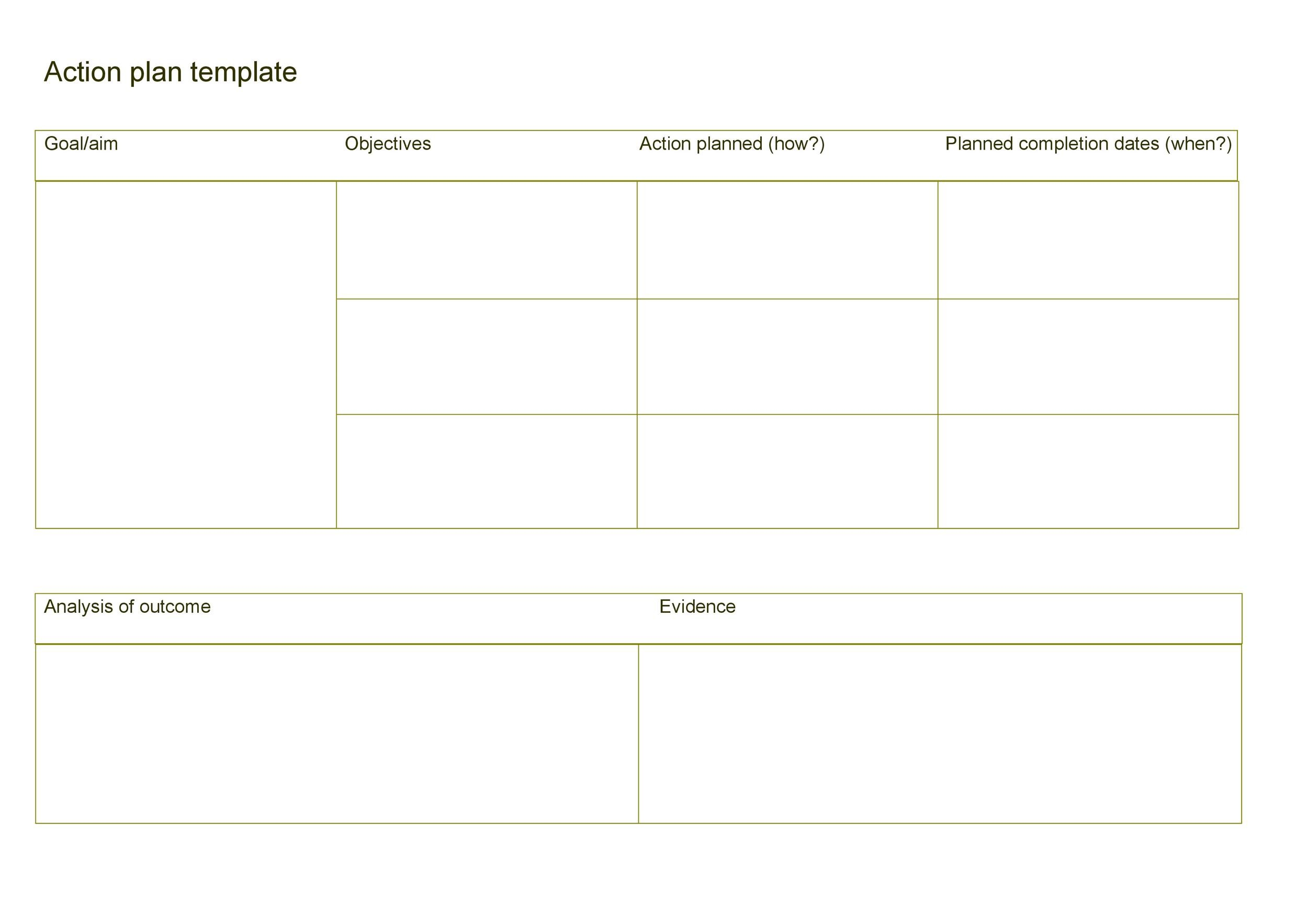 Free Action plan template 37