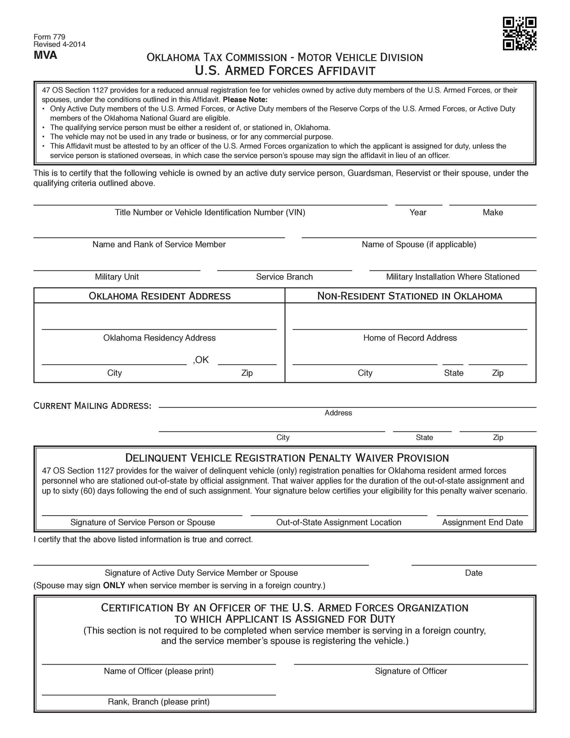 Free affidavit form 02