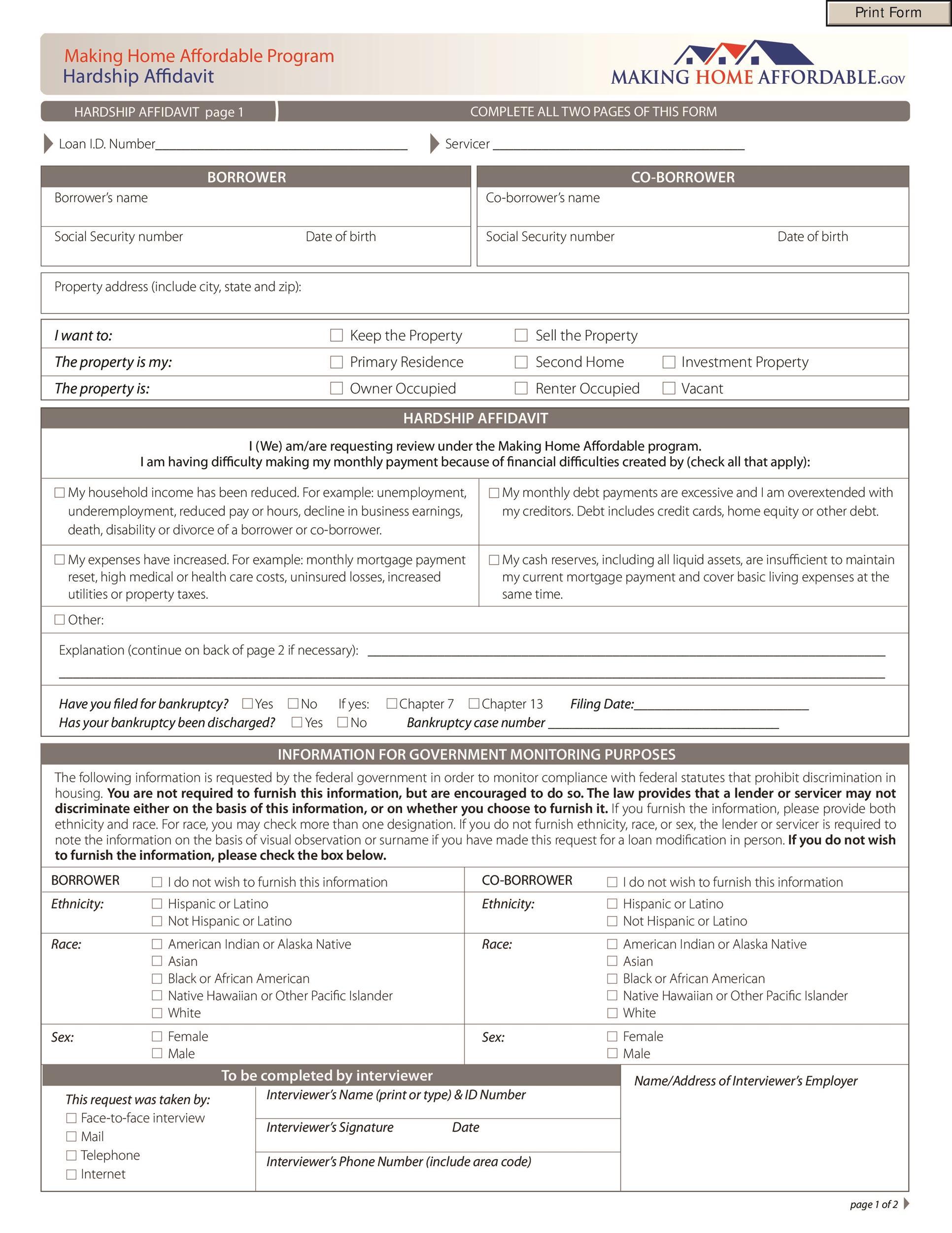 Free affidavit form 04