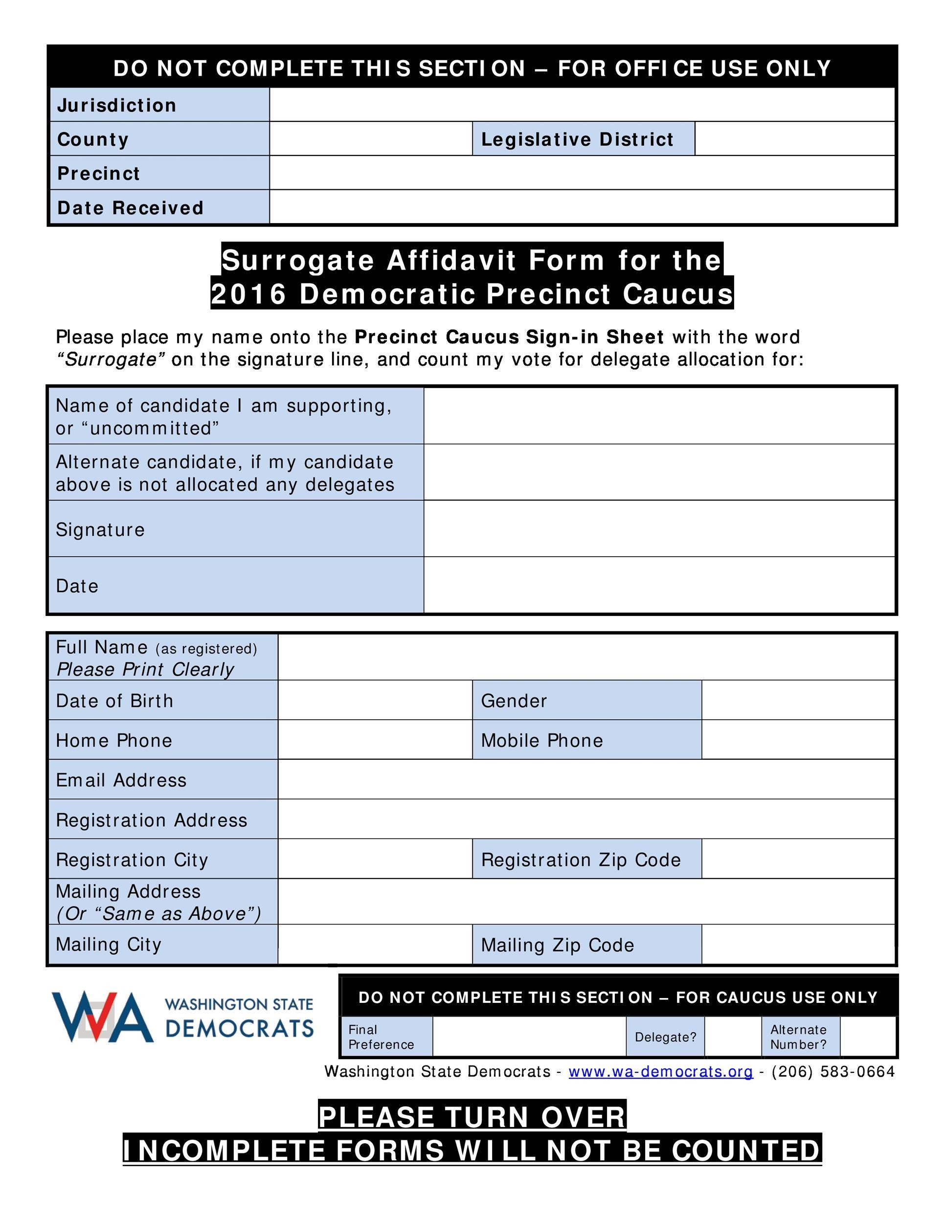 Printable Affidavit Form 05  Affidavit Word Template