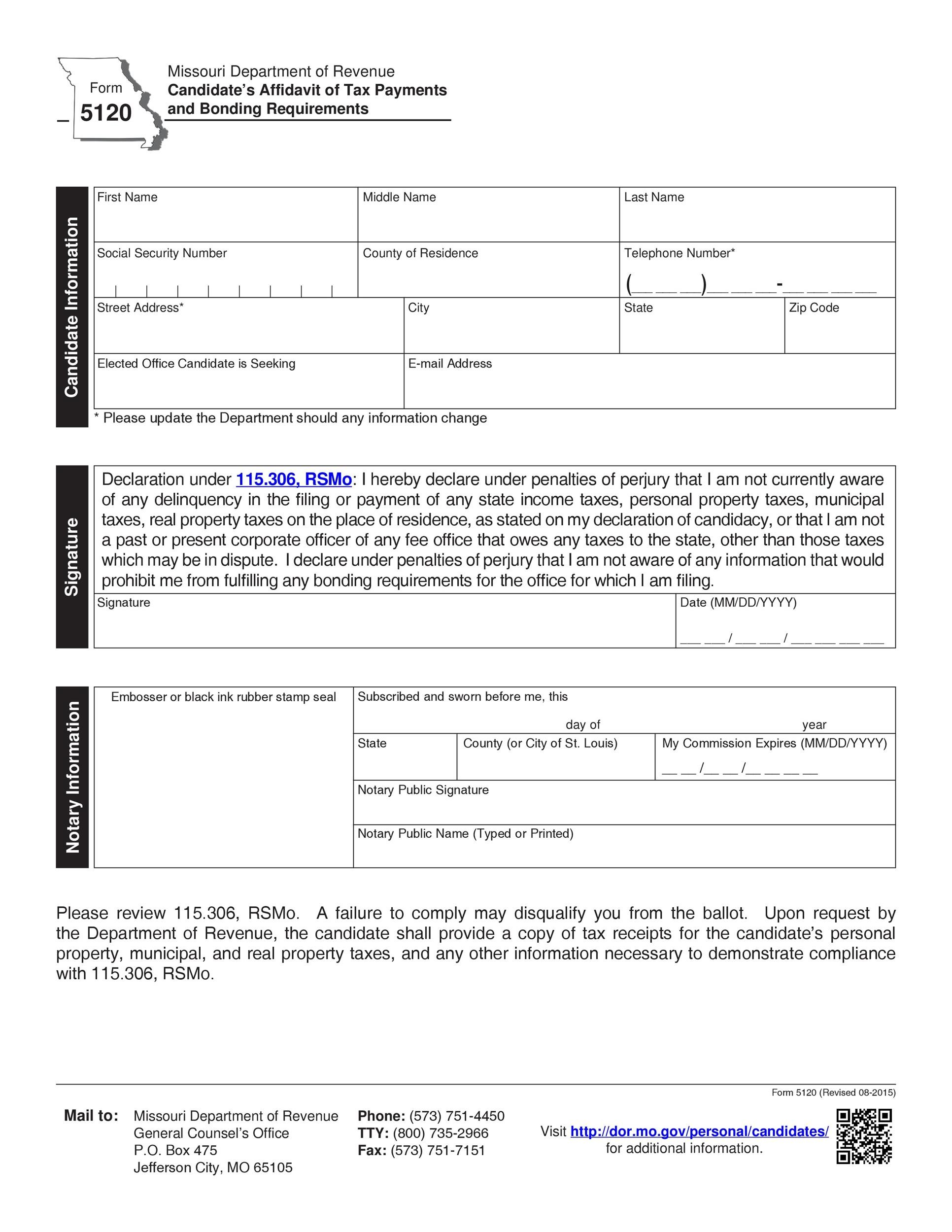 High Quality Printable Affidavit Form 06  Free Affidavit Form Template