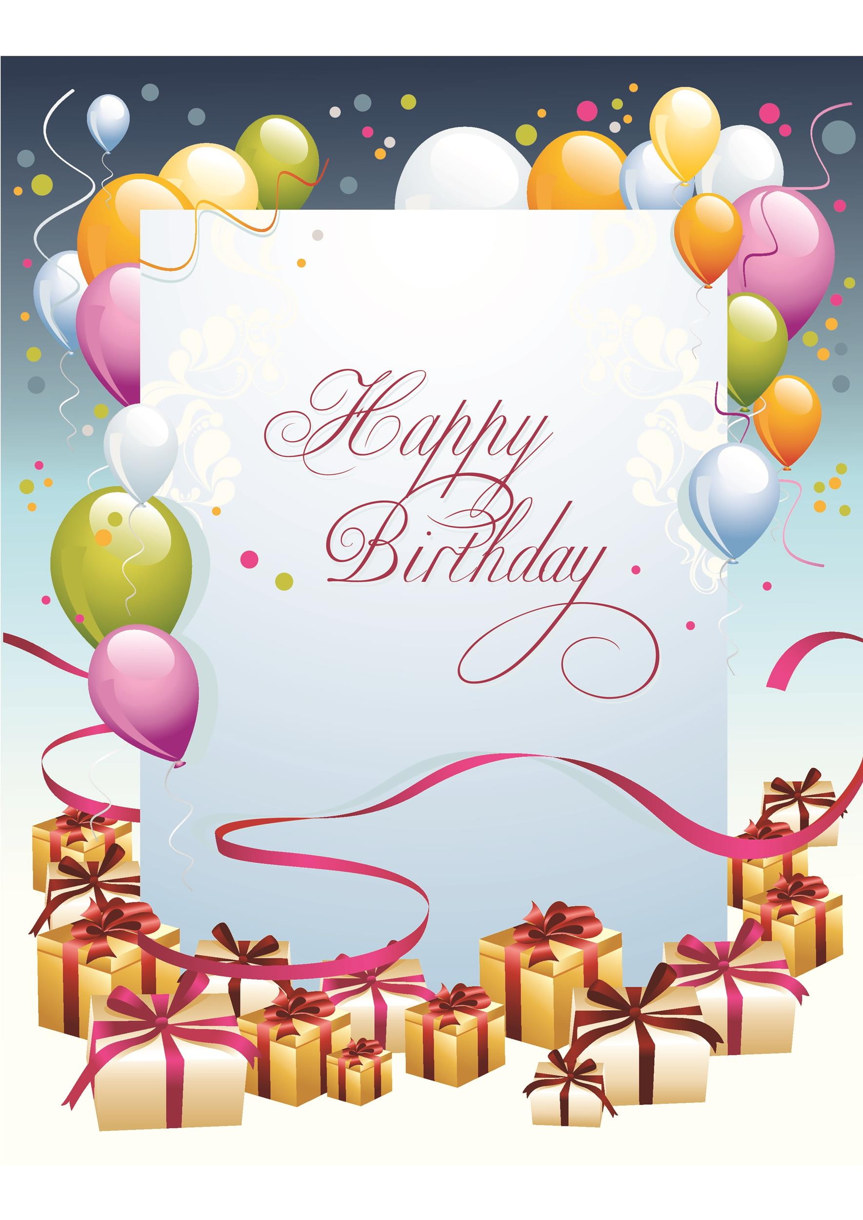 Printable Birthday Card Template 02  Birthday Greetings Download Free