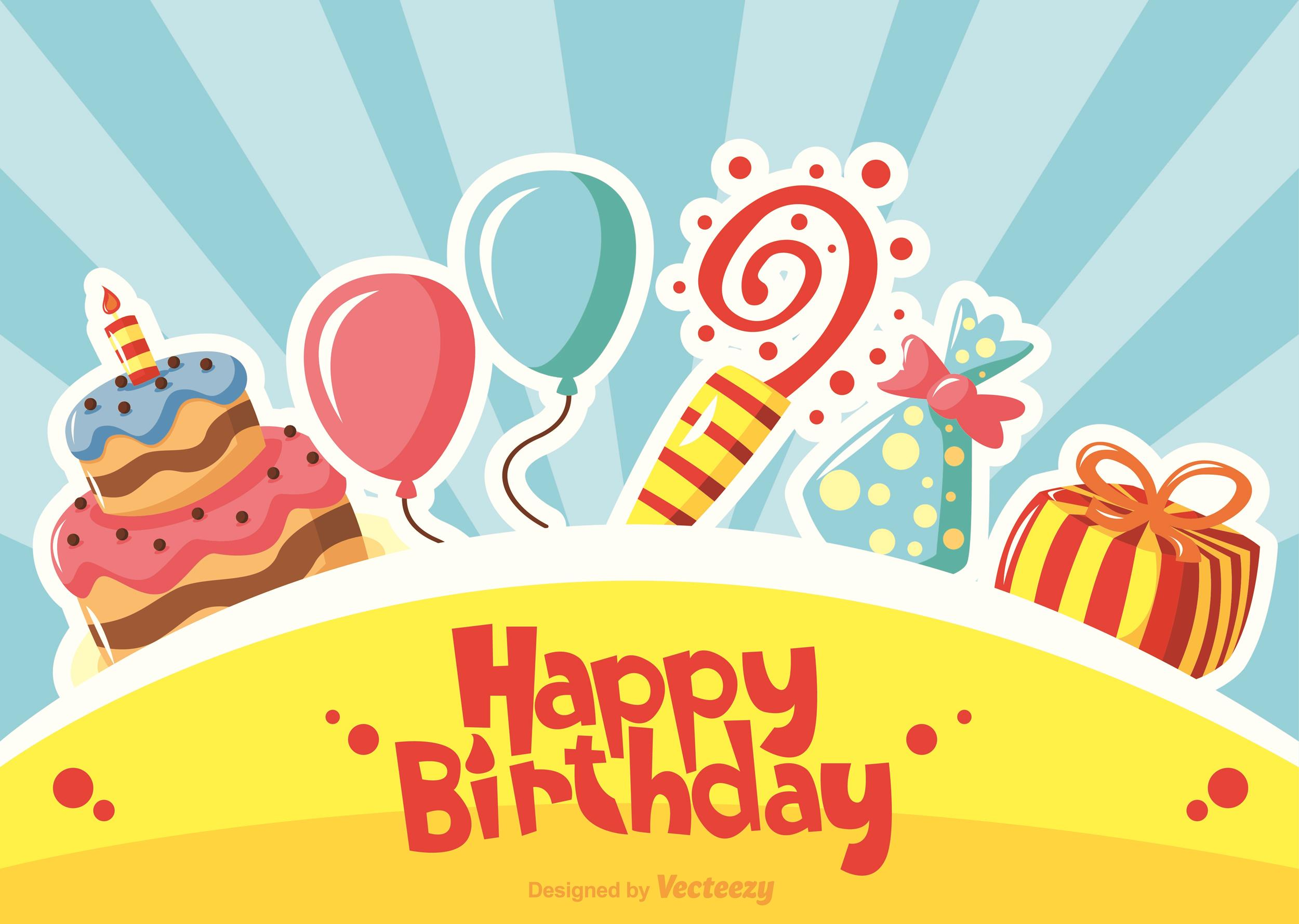 Free birthday card template 03