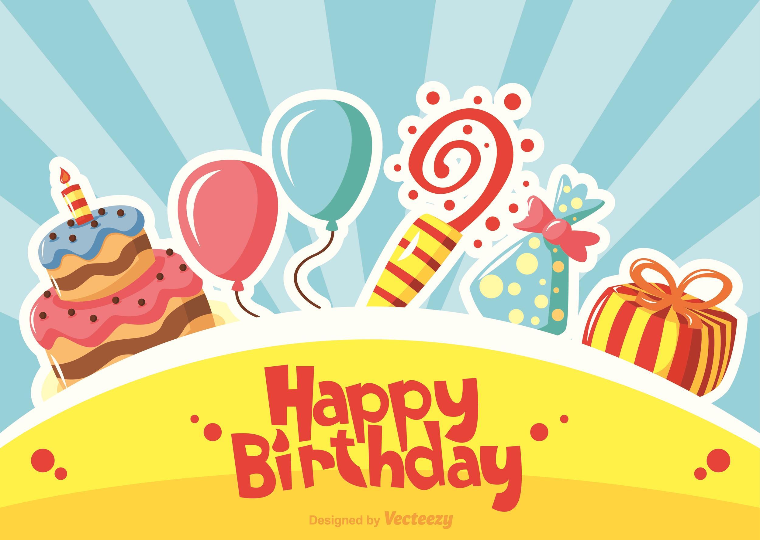 Free birthday card template 03