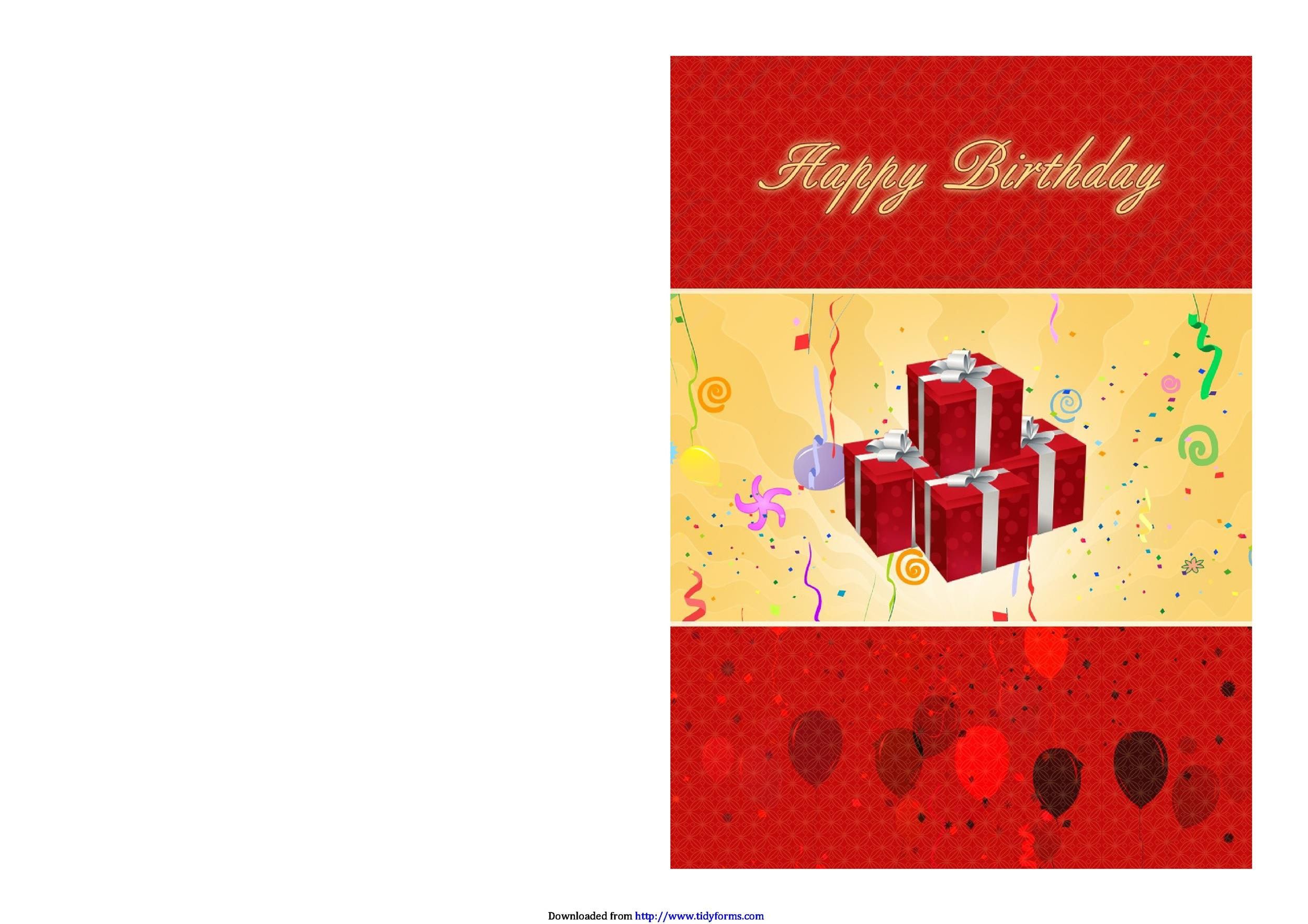 Free birthday card template 07
