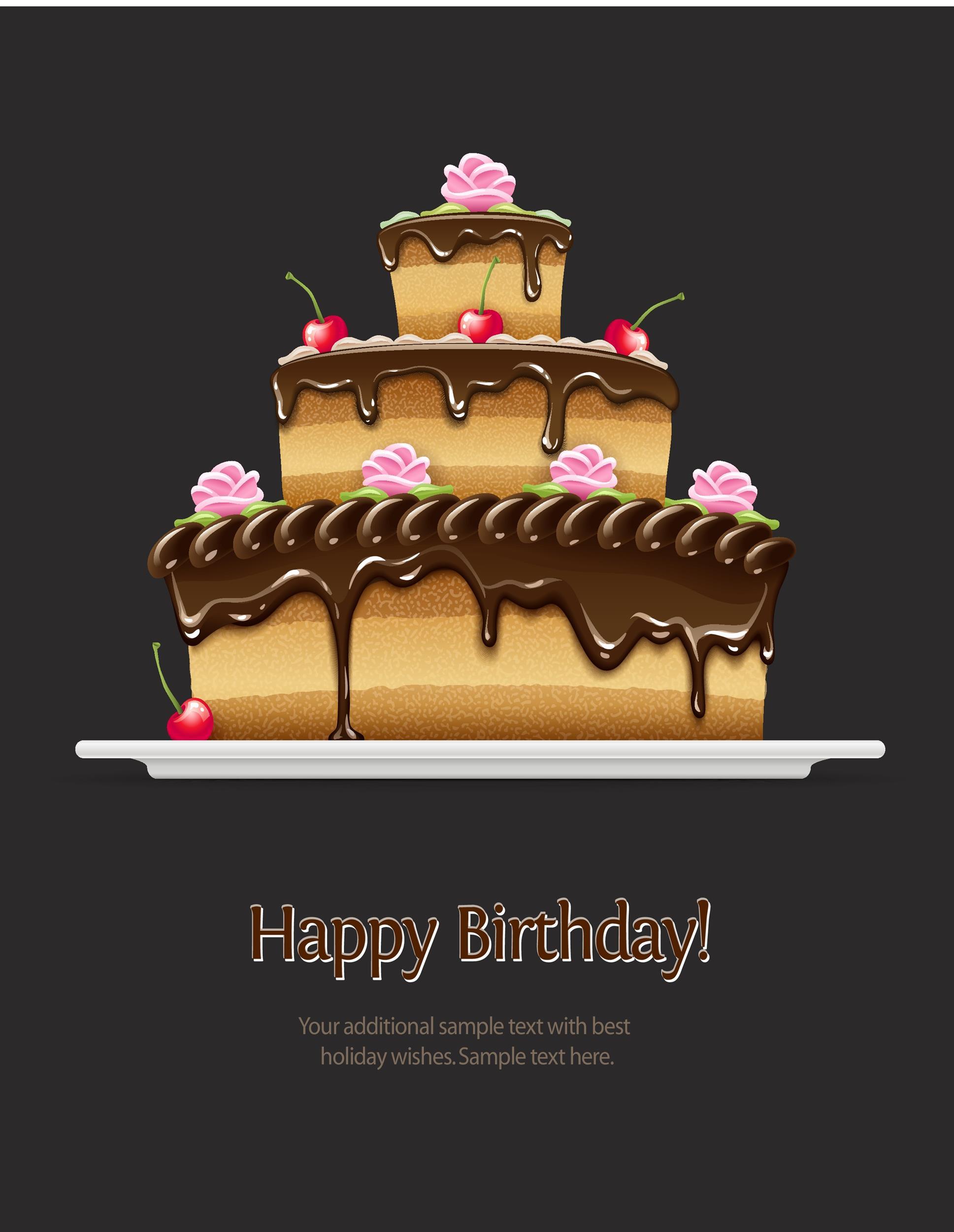 Free birthday card template 08