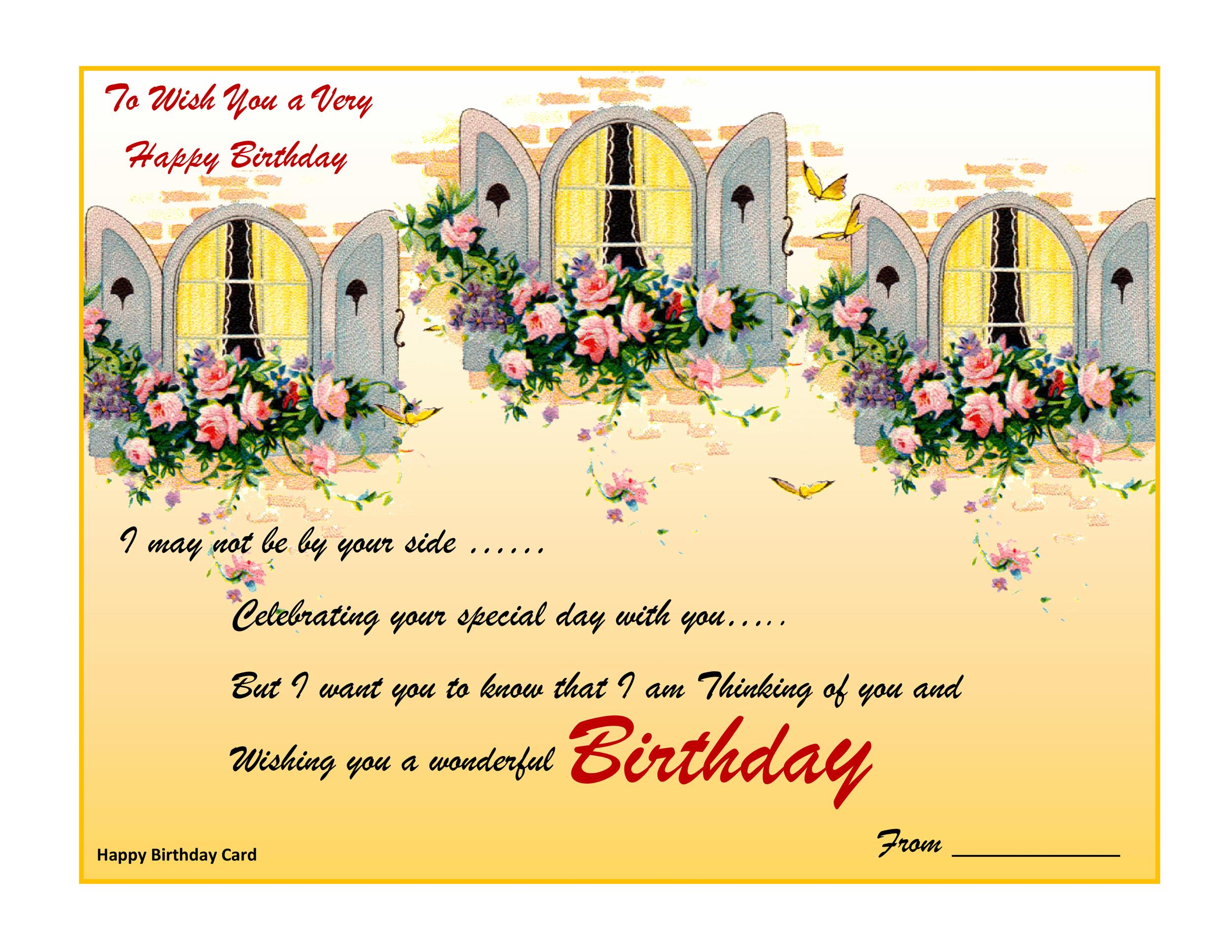 Free birthday card template 09