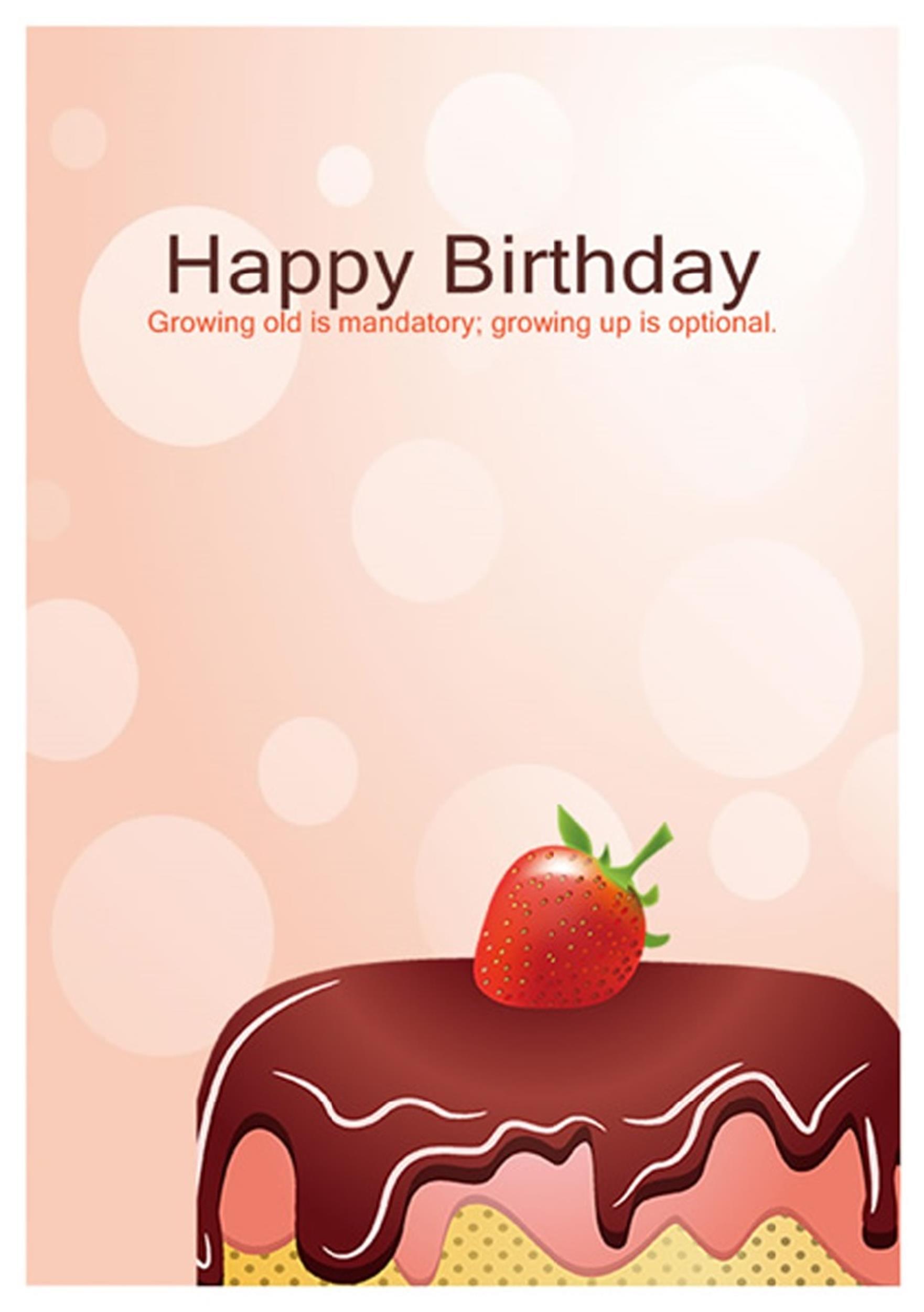 Free birthday card template 10