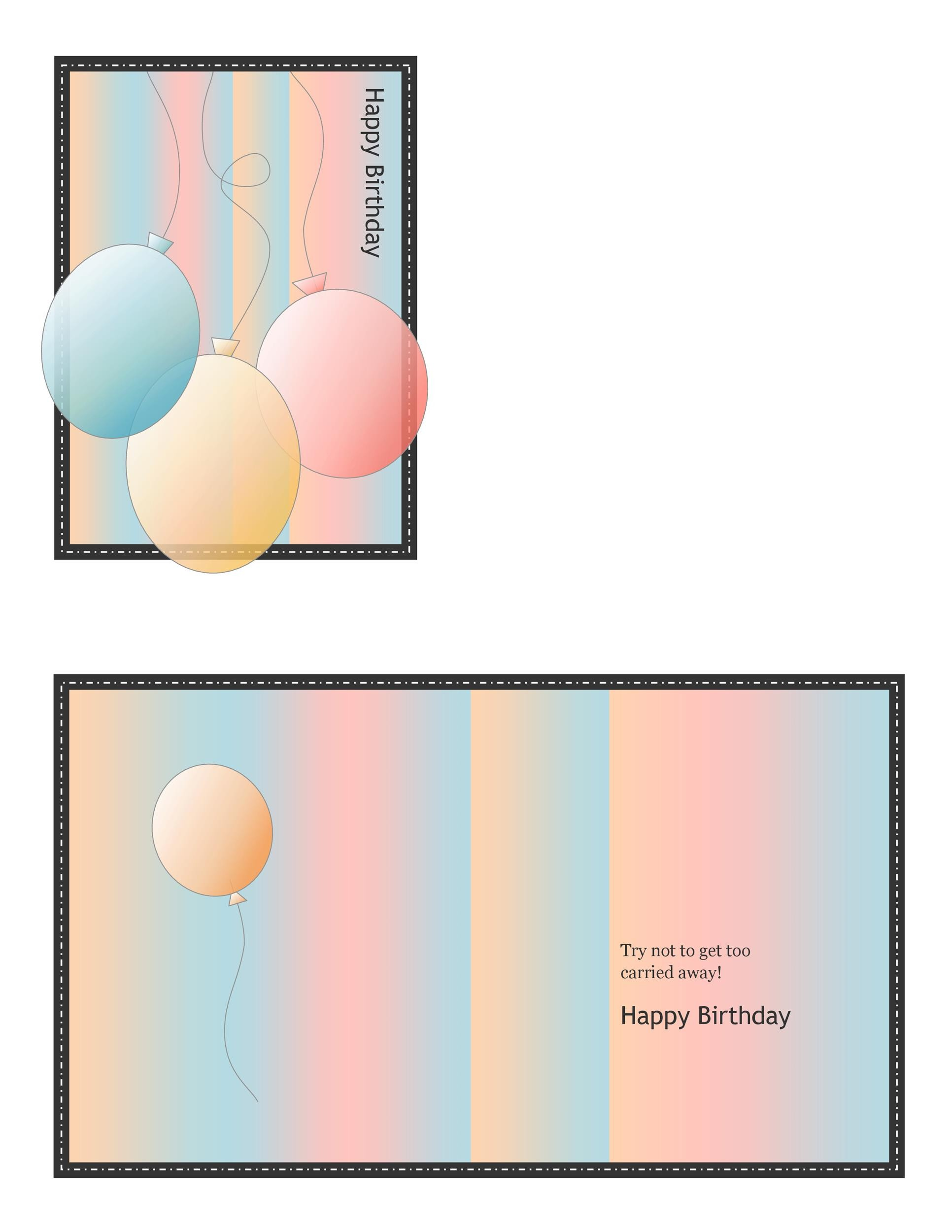 Free birthday card template 15
