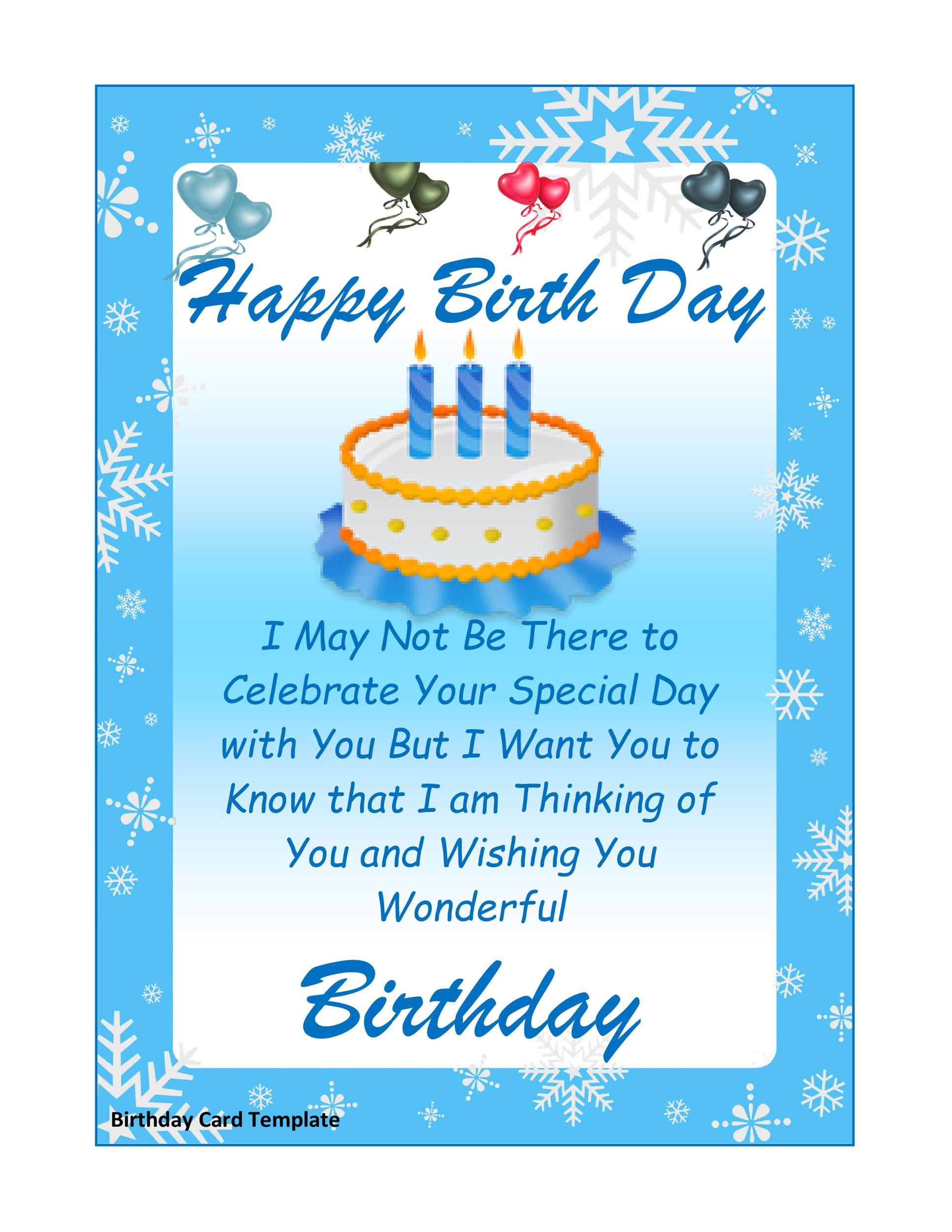 Free birthday card template 16