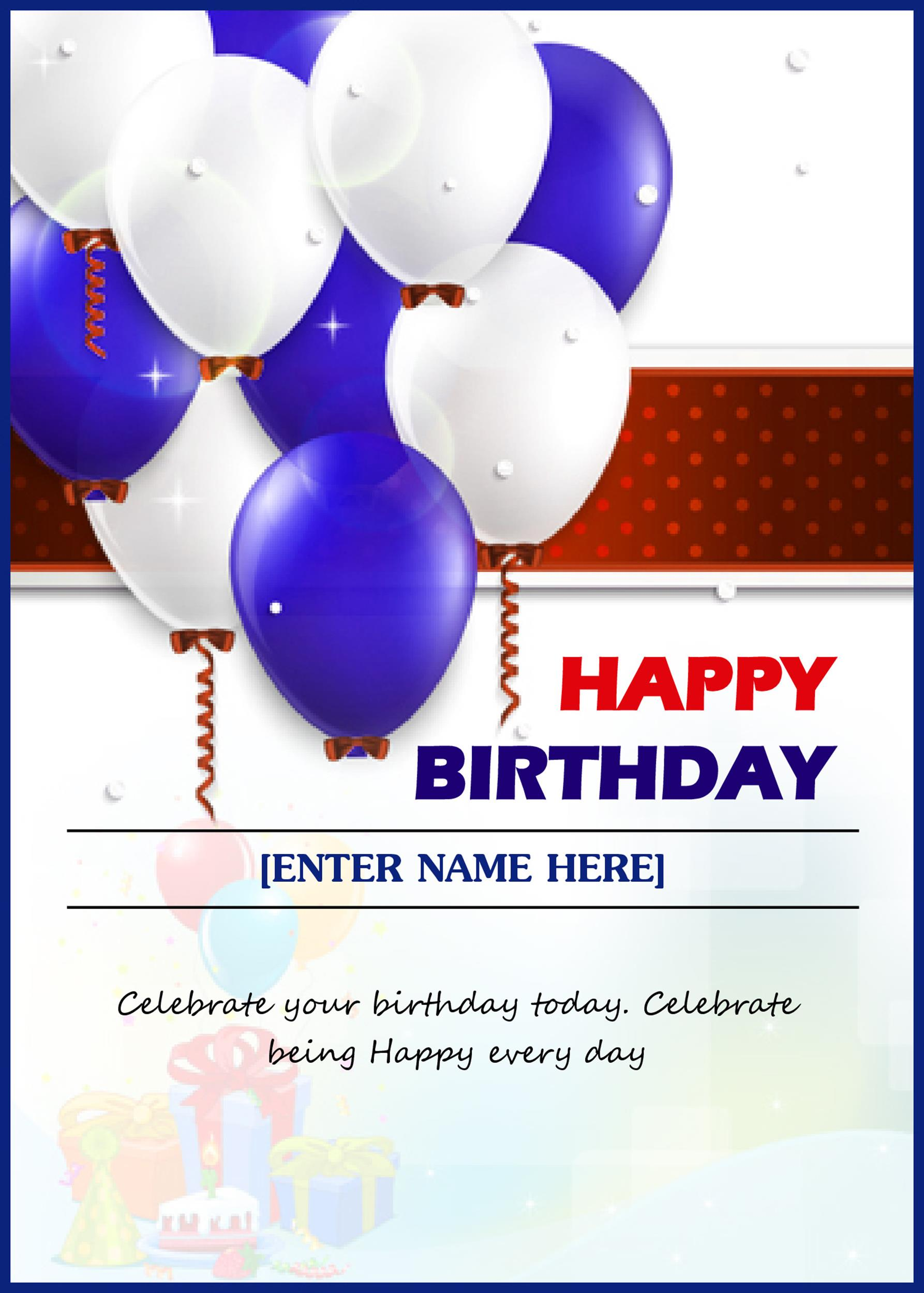 Free birthday card template 17