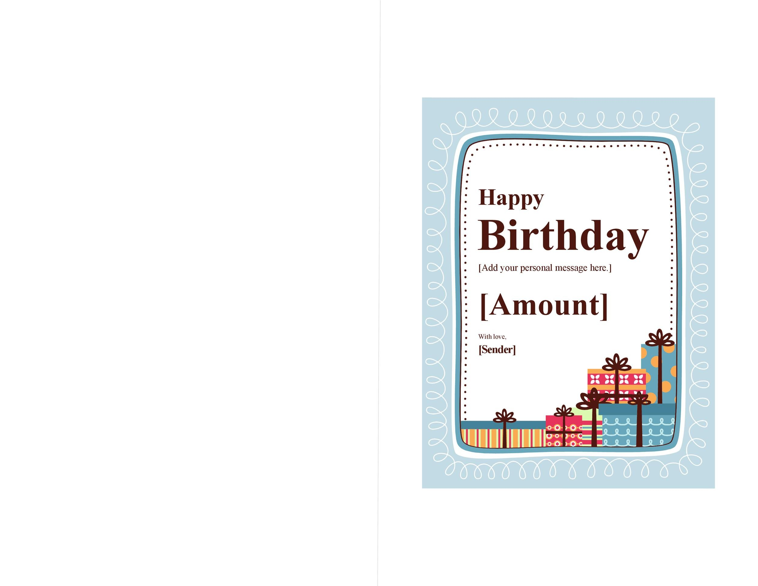 Free Birthday Card Templates | 40 Free Birthday Card Templates Template Lab