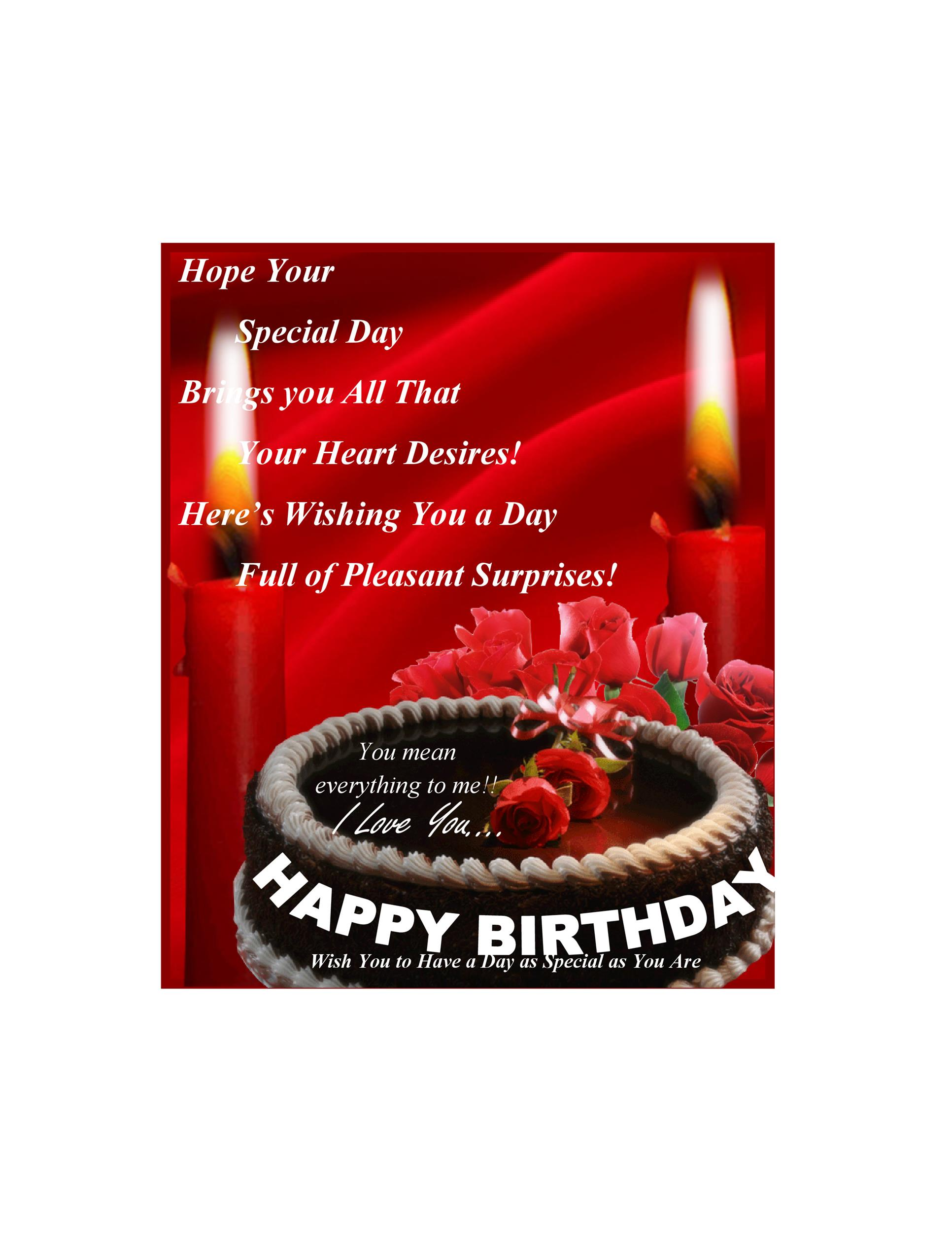 Free birthday card template 19