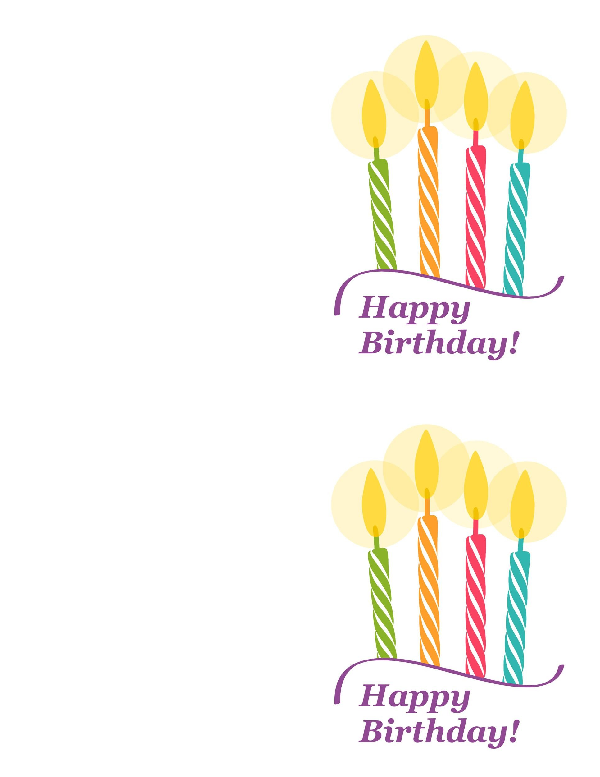 Free Birthday Card Template 21 Printable