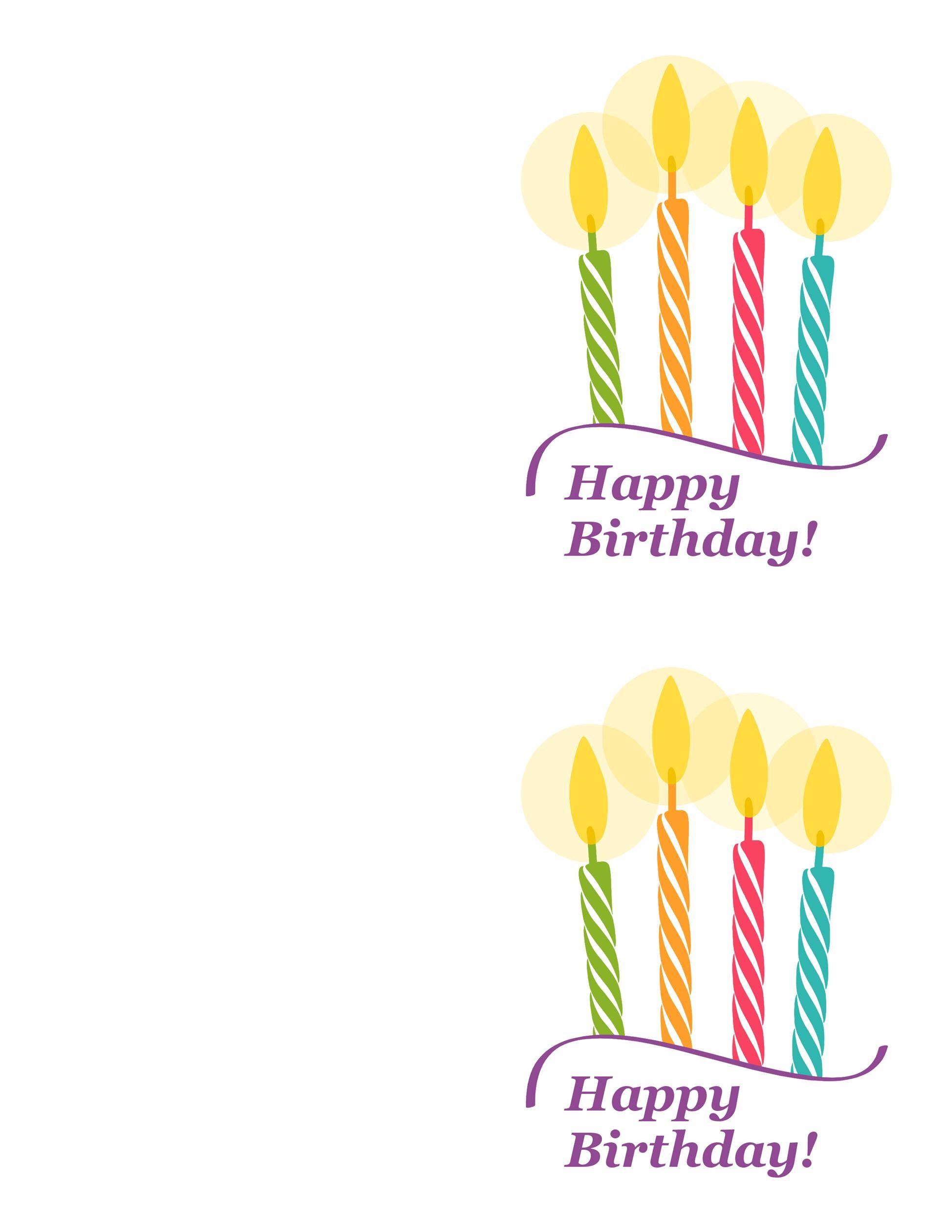 Free birthday card template 21