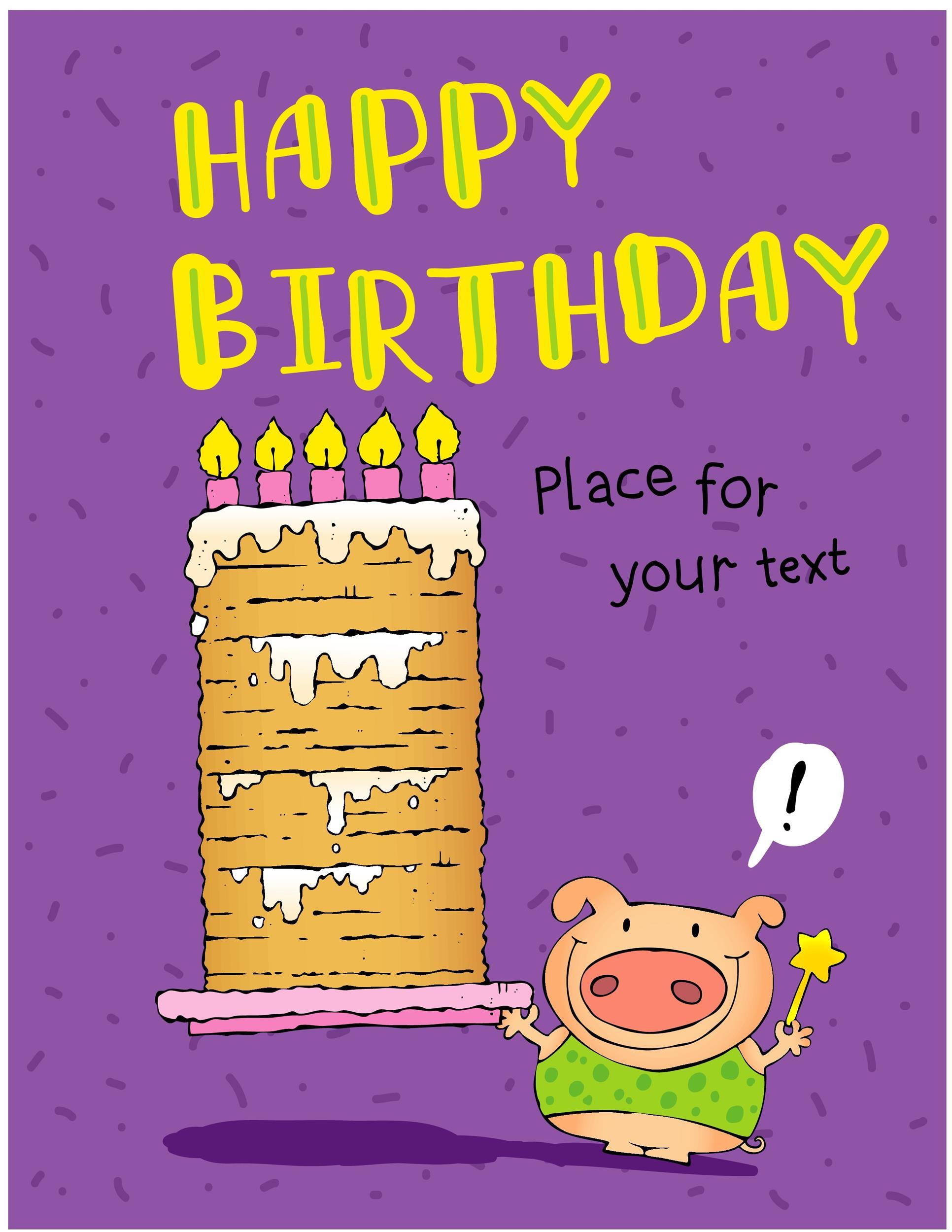 Free birthday card template 24