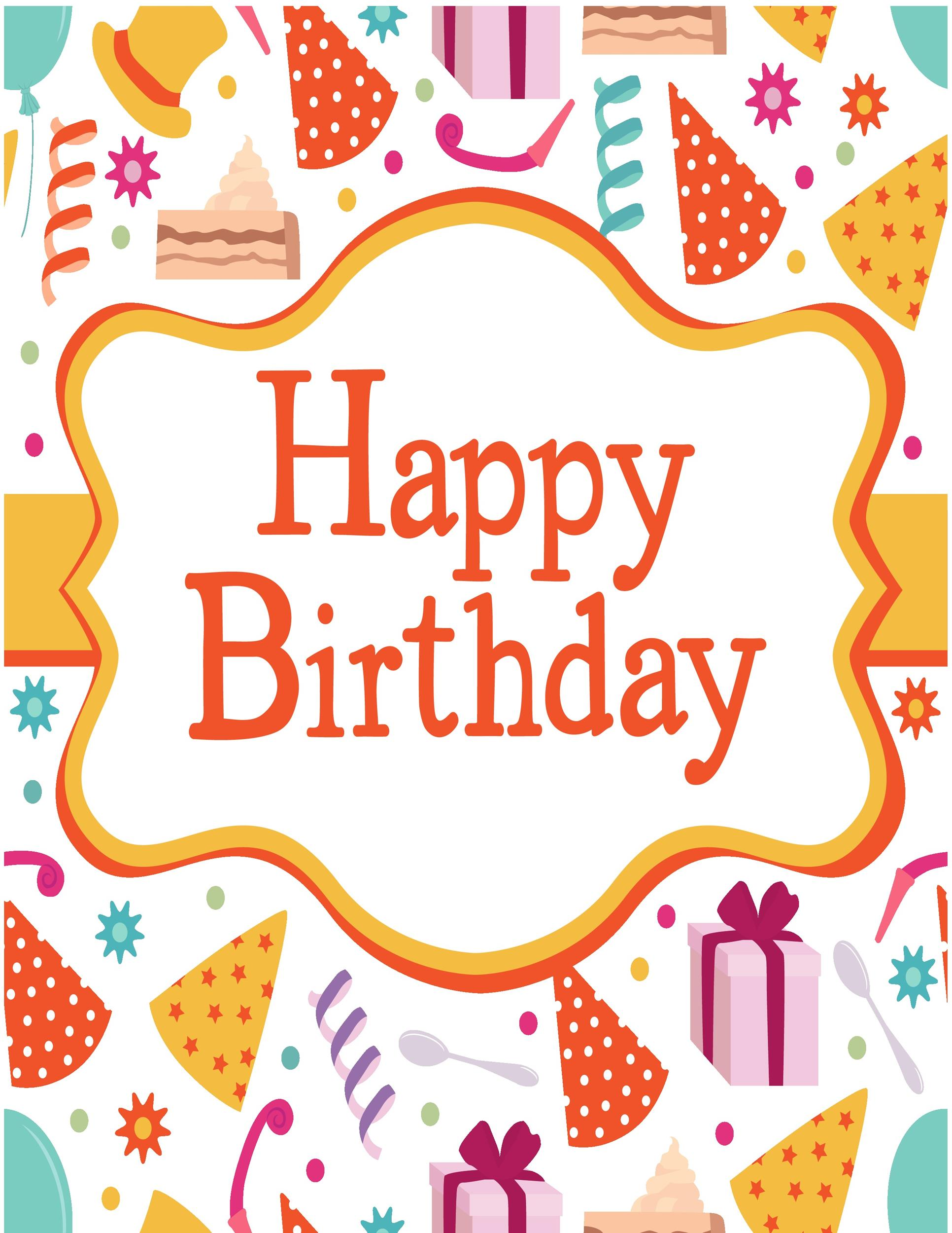 Free Birthday Card Template 25 Printable
