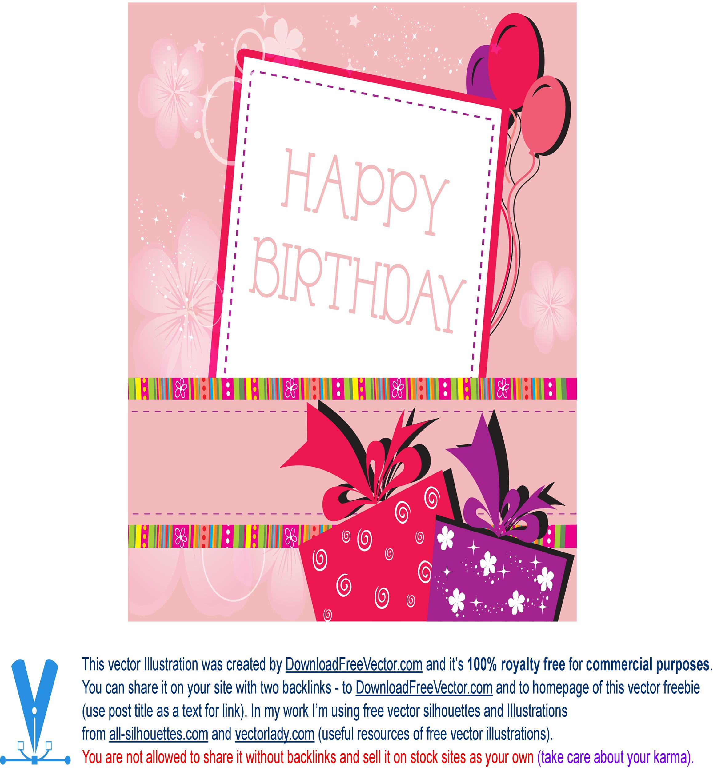 Free birthday card template 33