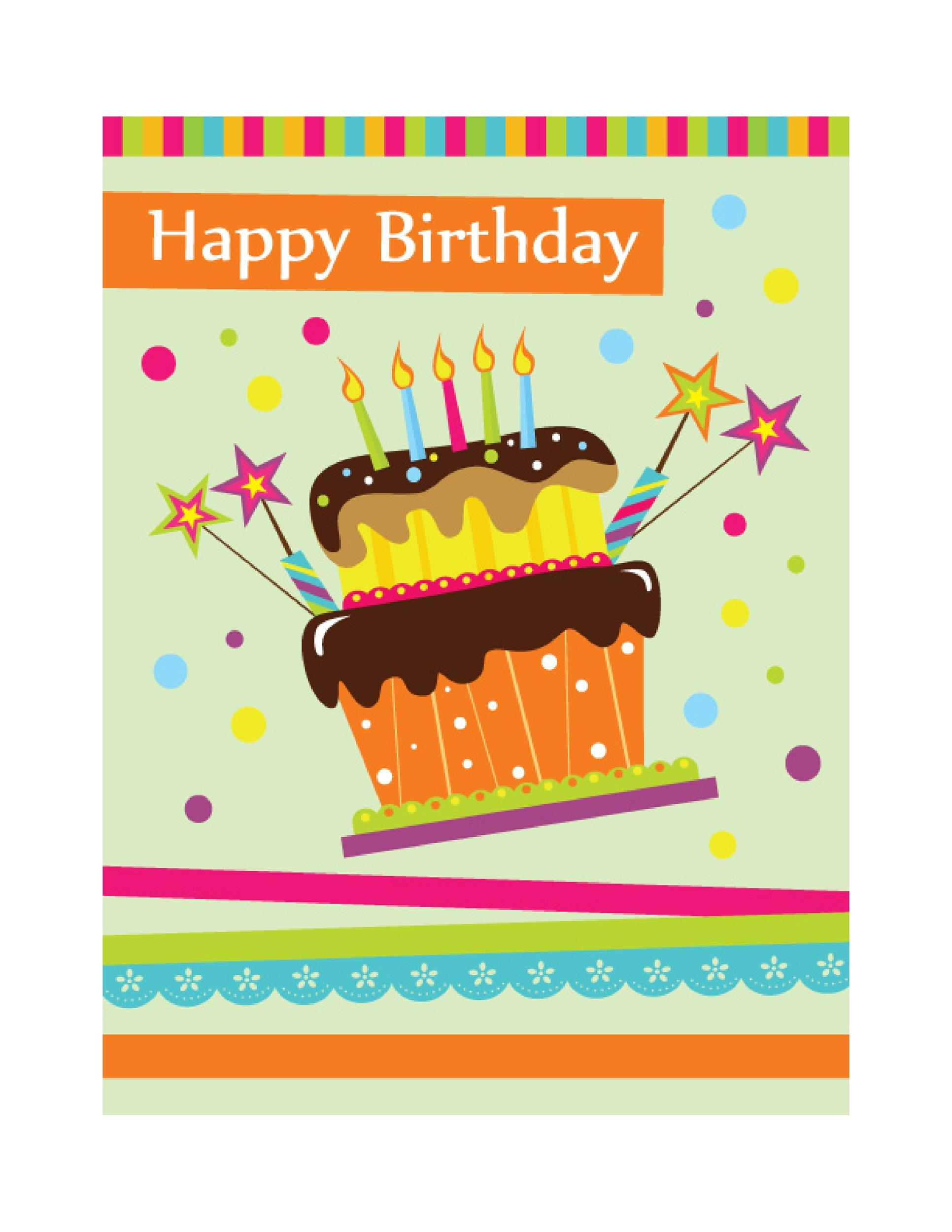 Free birthday card template 37