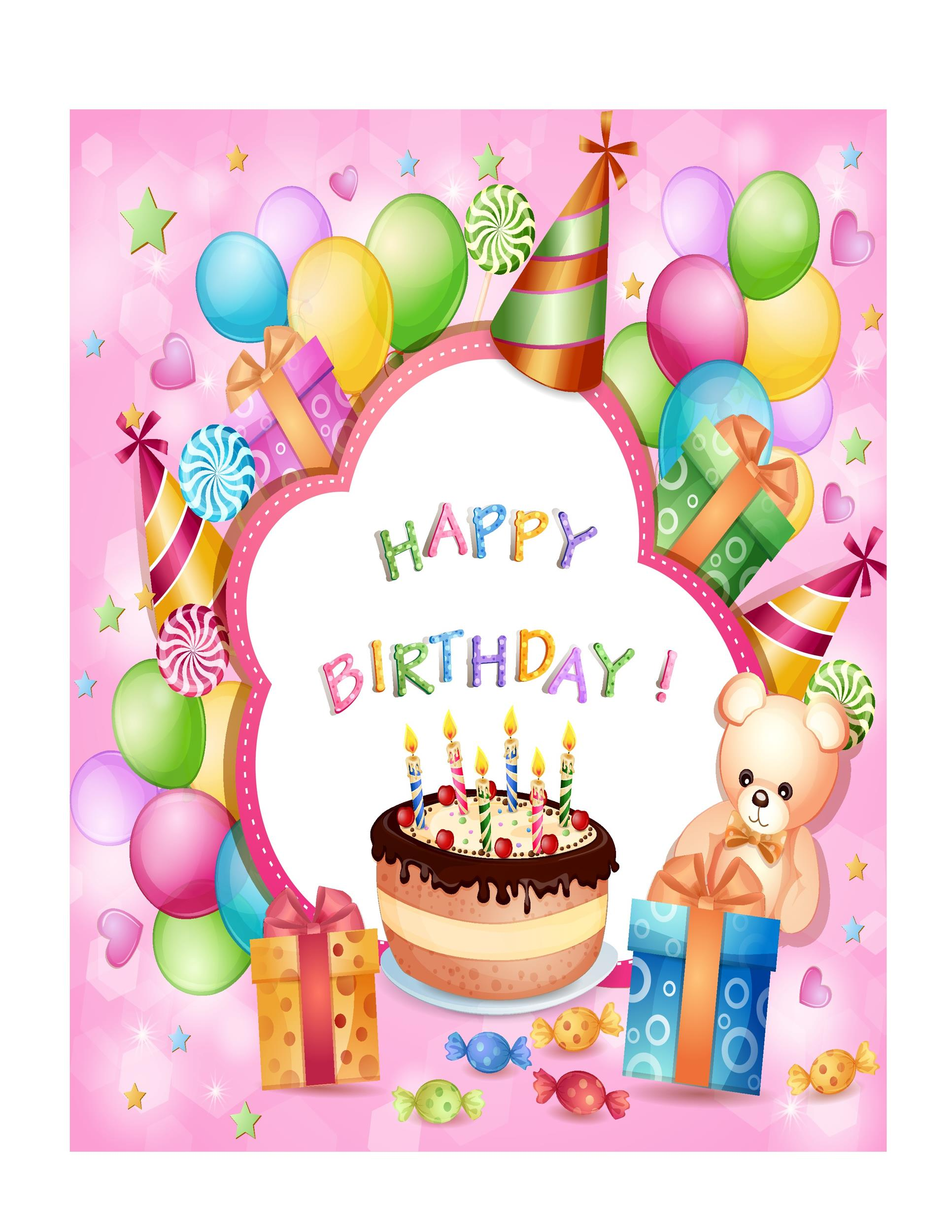 Free Birthday Card Template 38 Printable