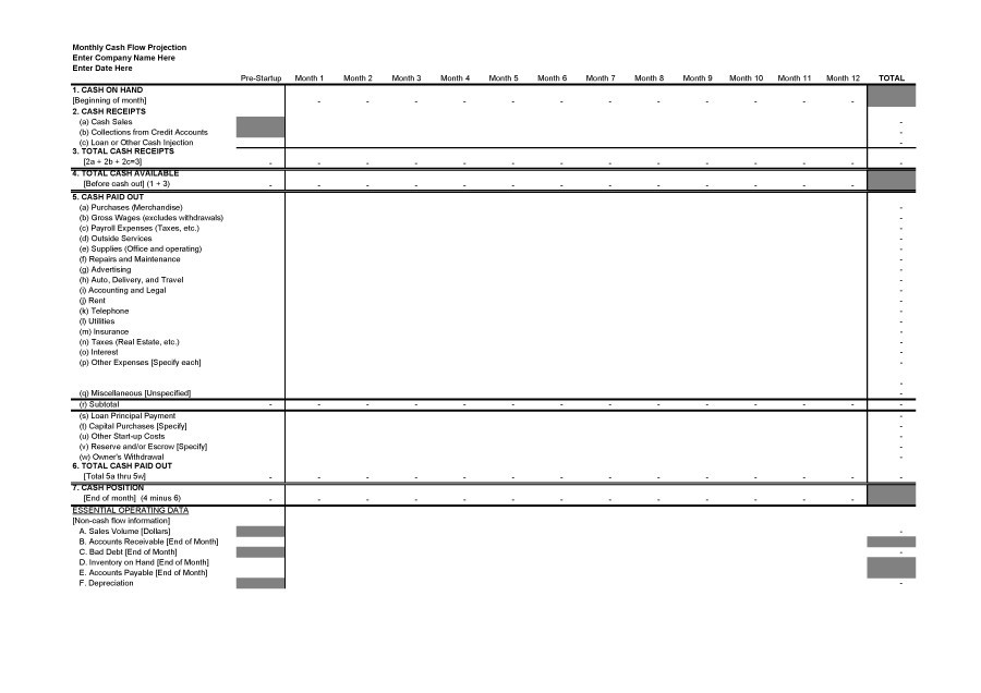 Free cash flow statement 15