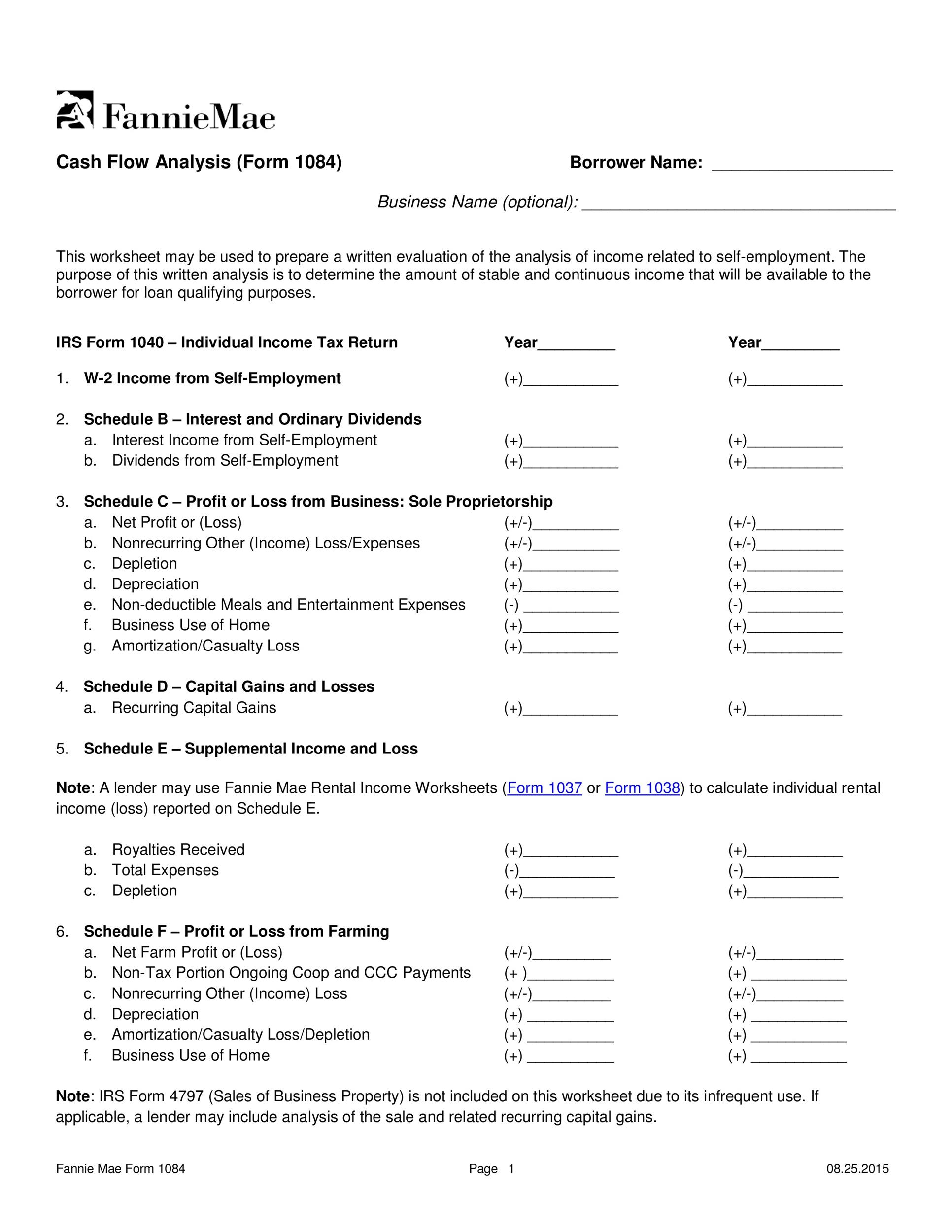 Free cash flow statement 25