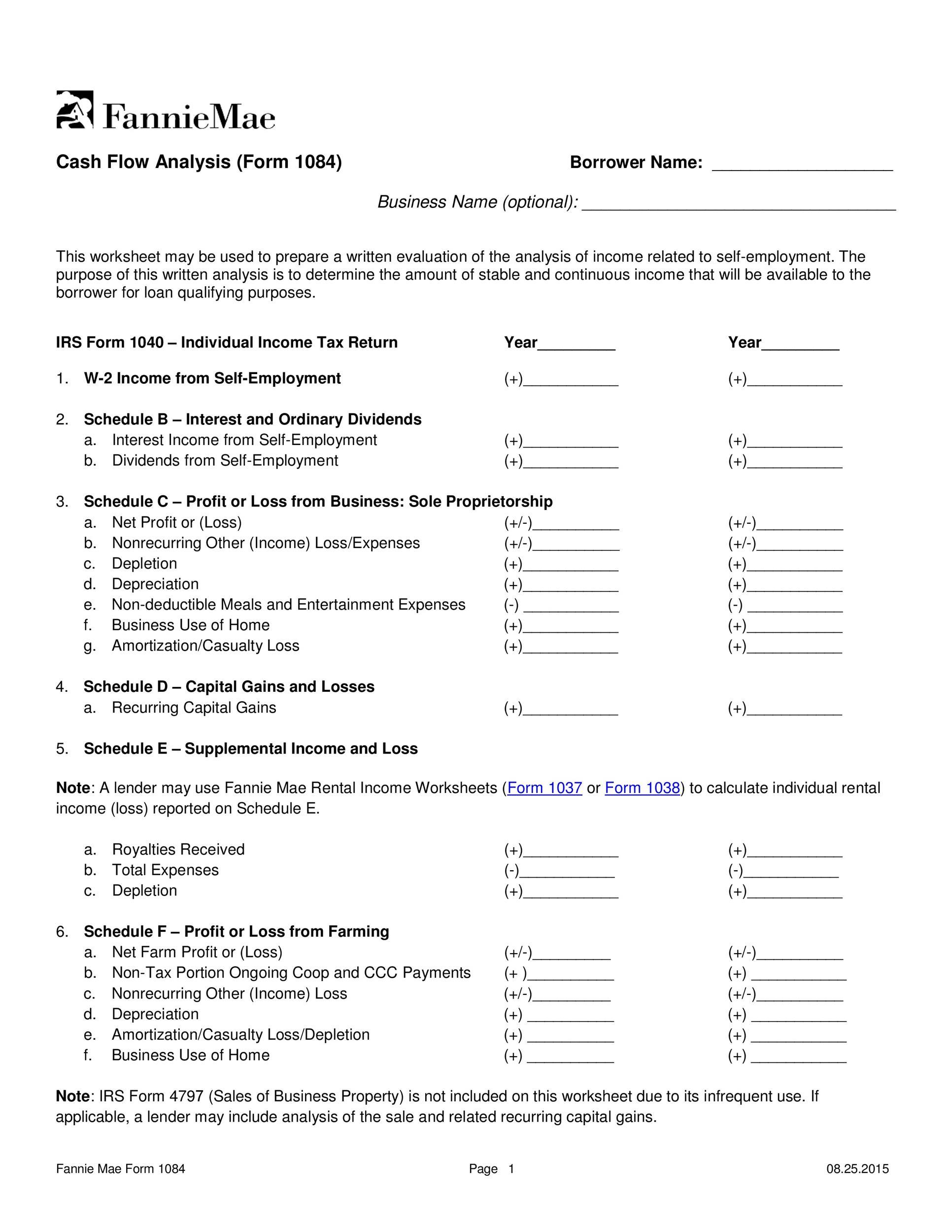 Free cash flow statement 25