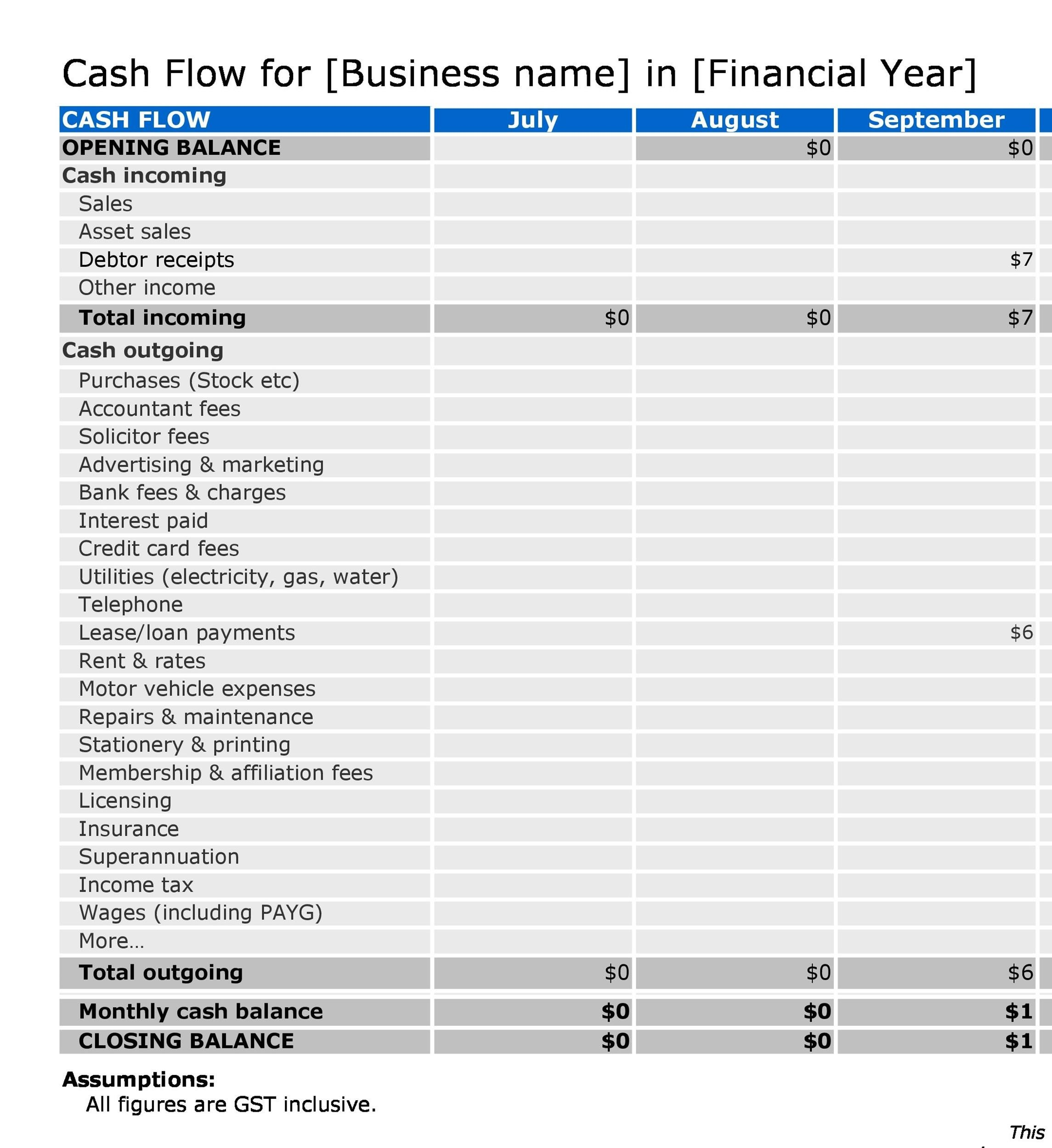 Free cash flow statement 37