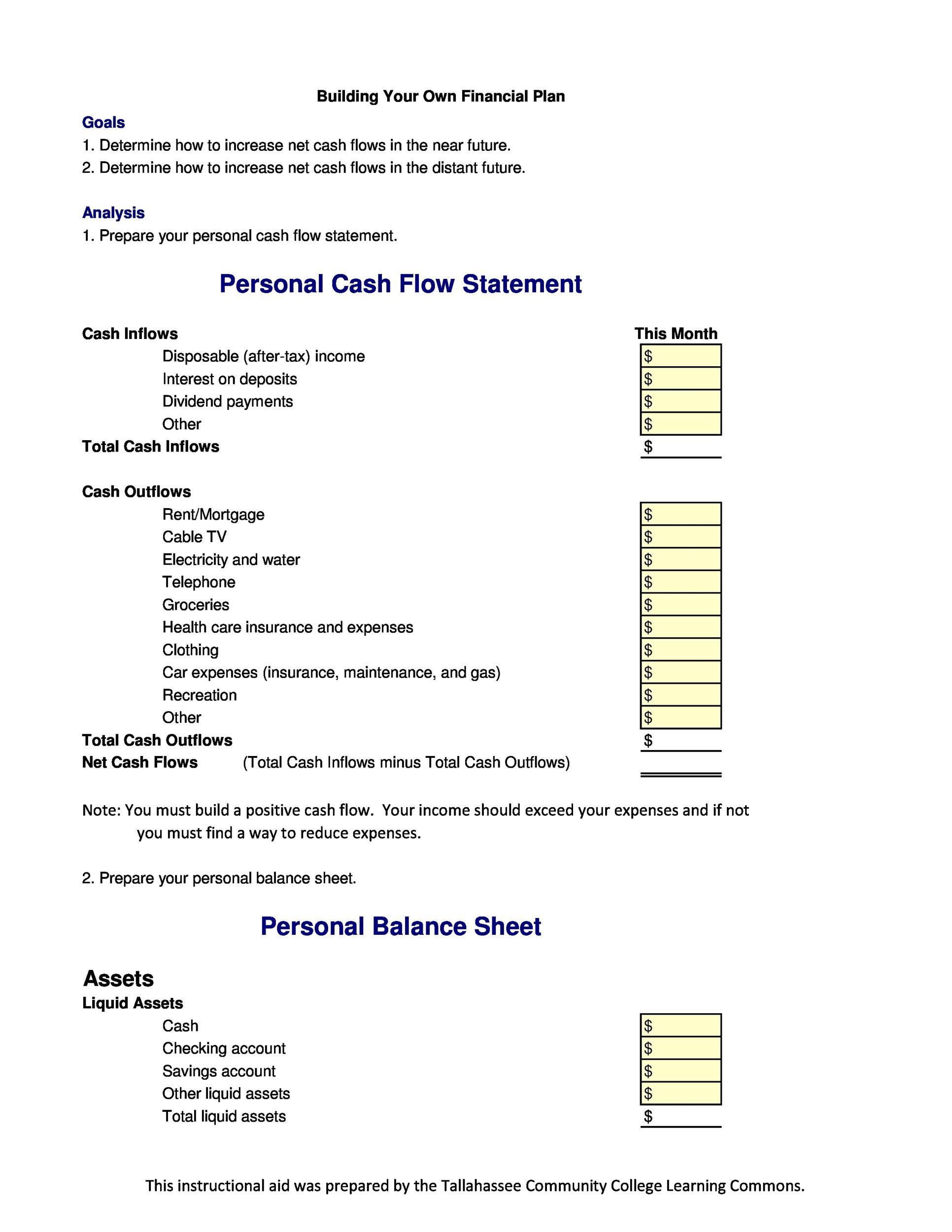 Free cash flow statement 39