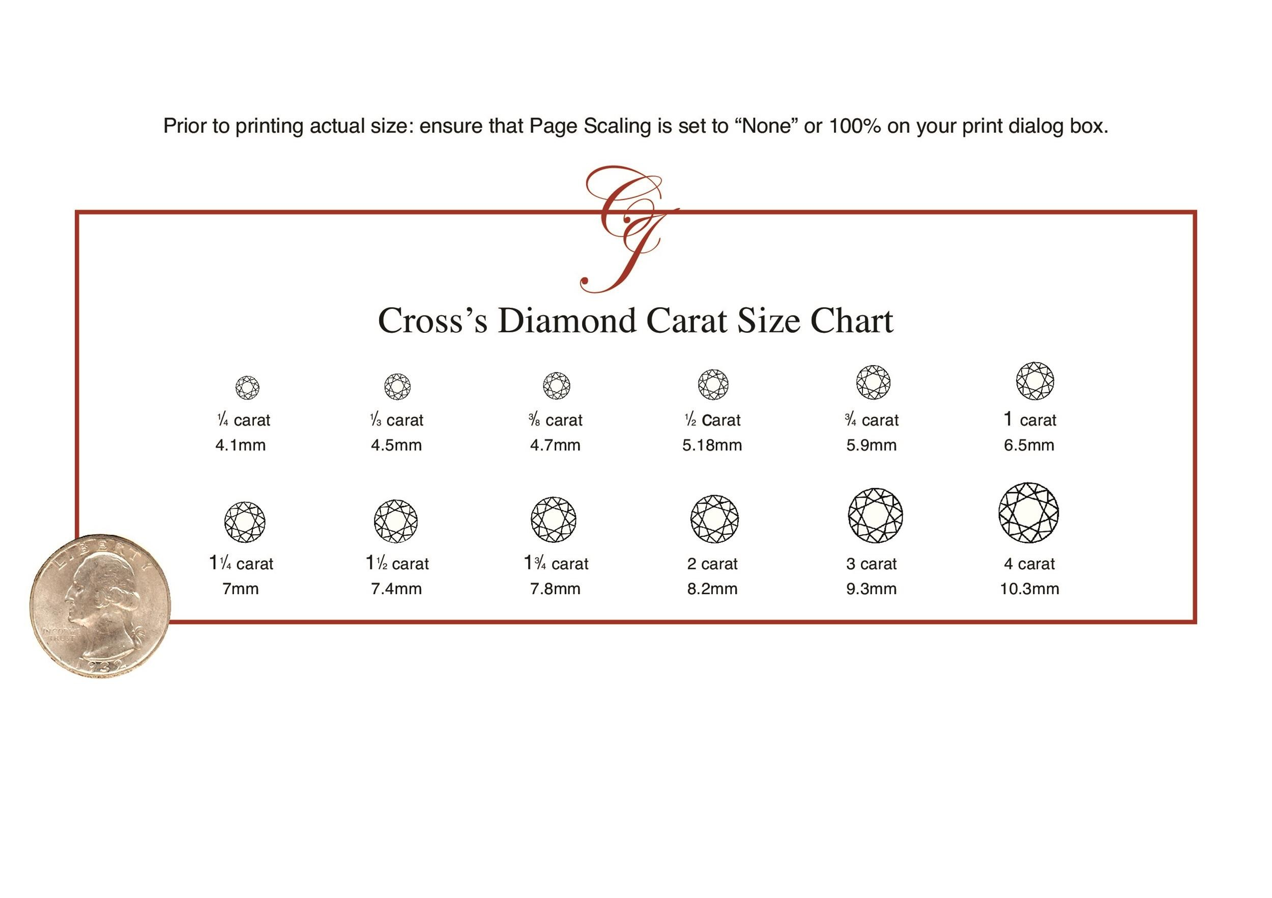 29 Printable Diamond Size Charts Diamond Color Charts