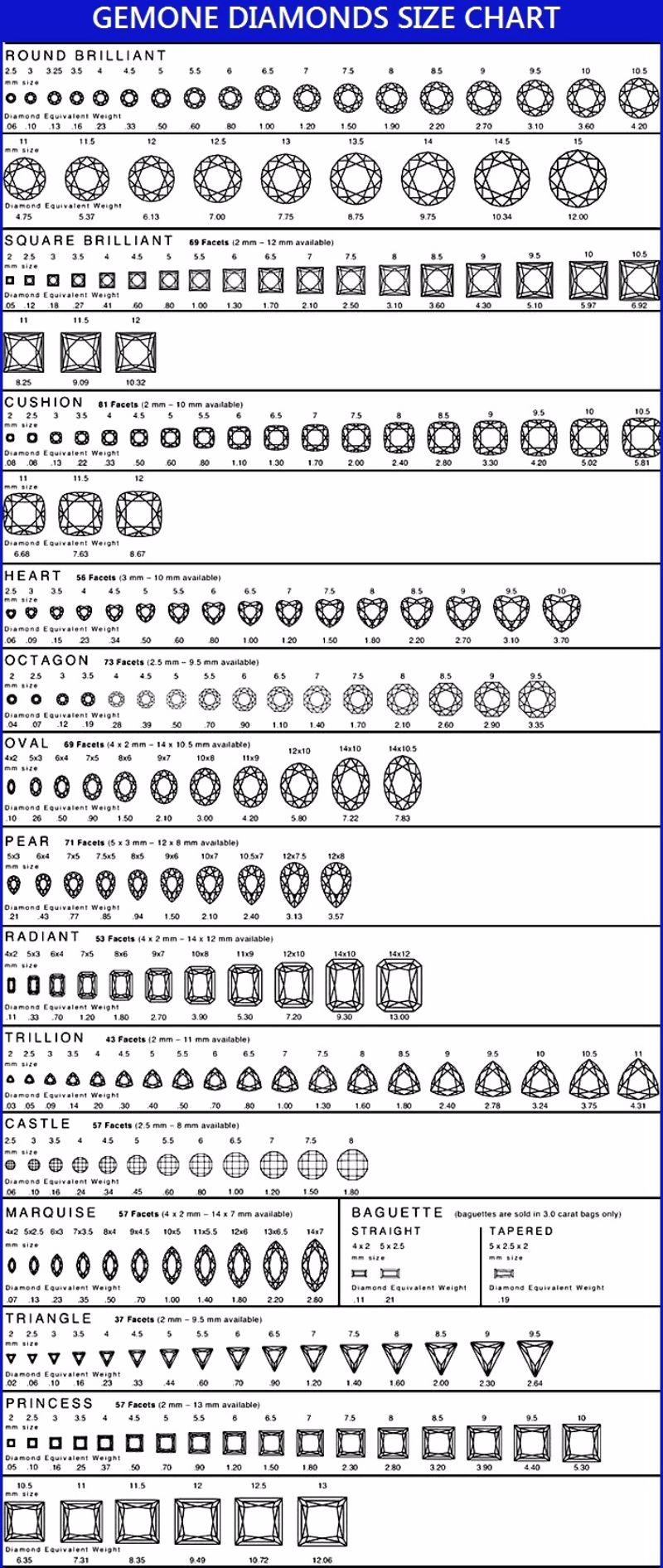 Free diamond size chart 12