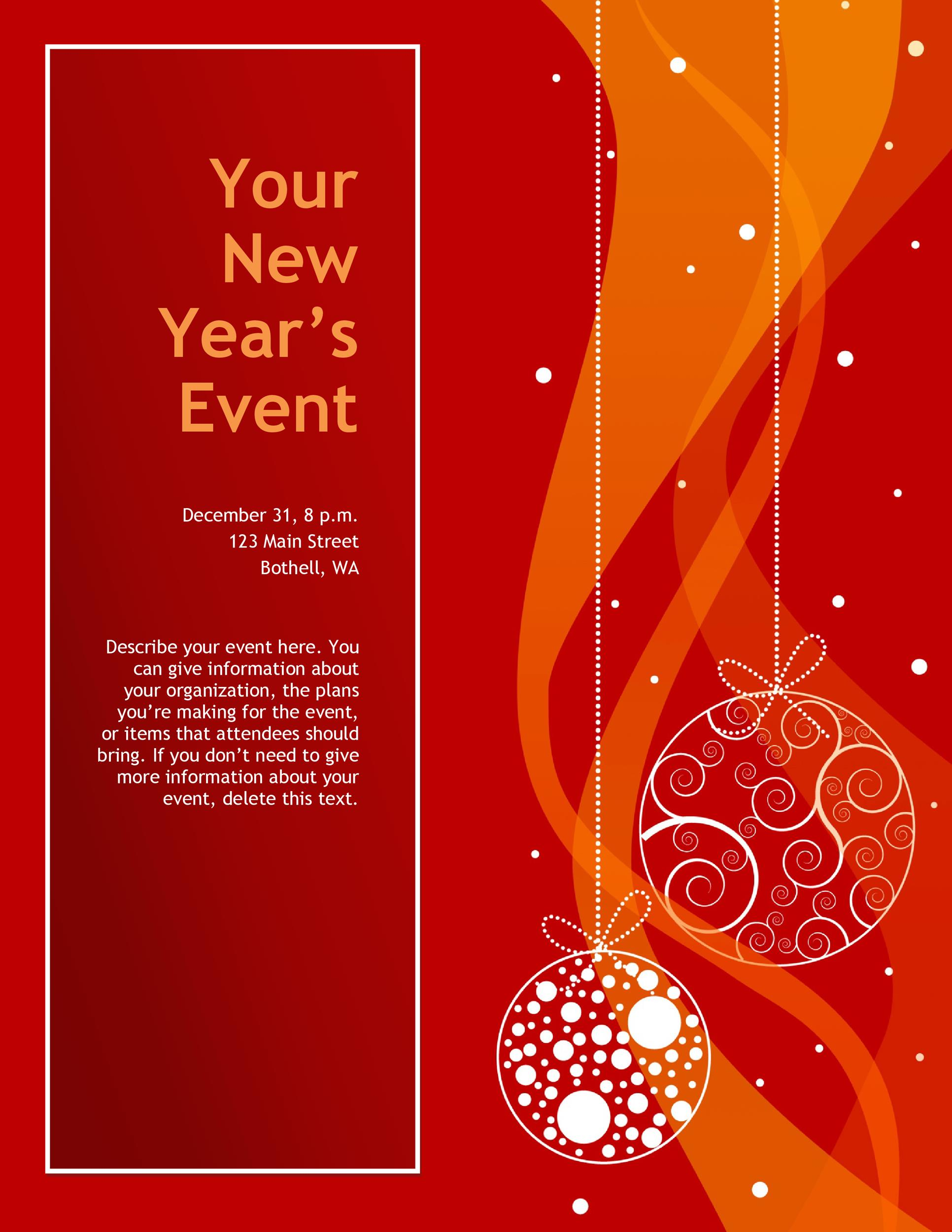 party brochure template - free event flyer template choice image professional