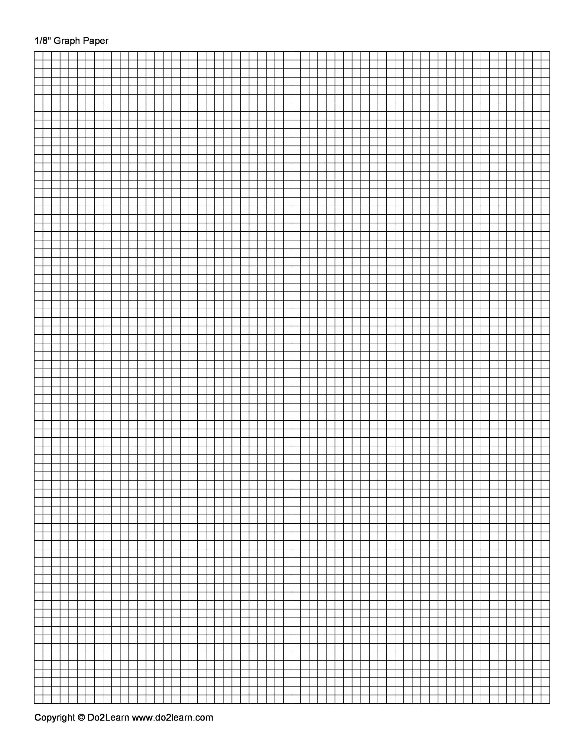 Printable Graph Paper Template 01  Loose Leaf Paper Template