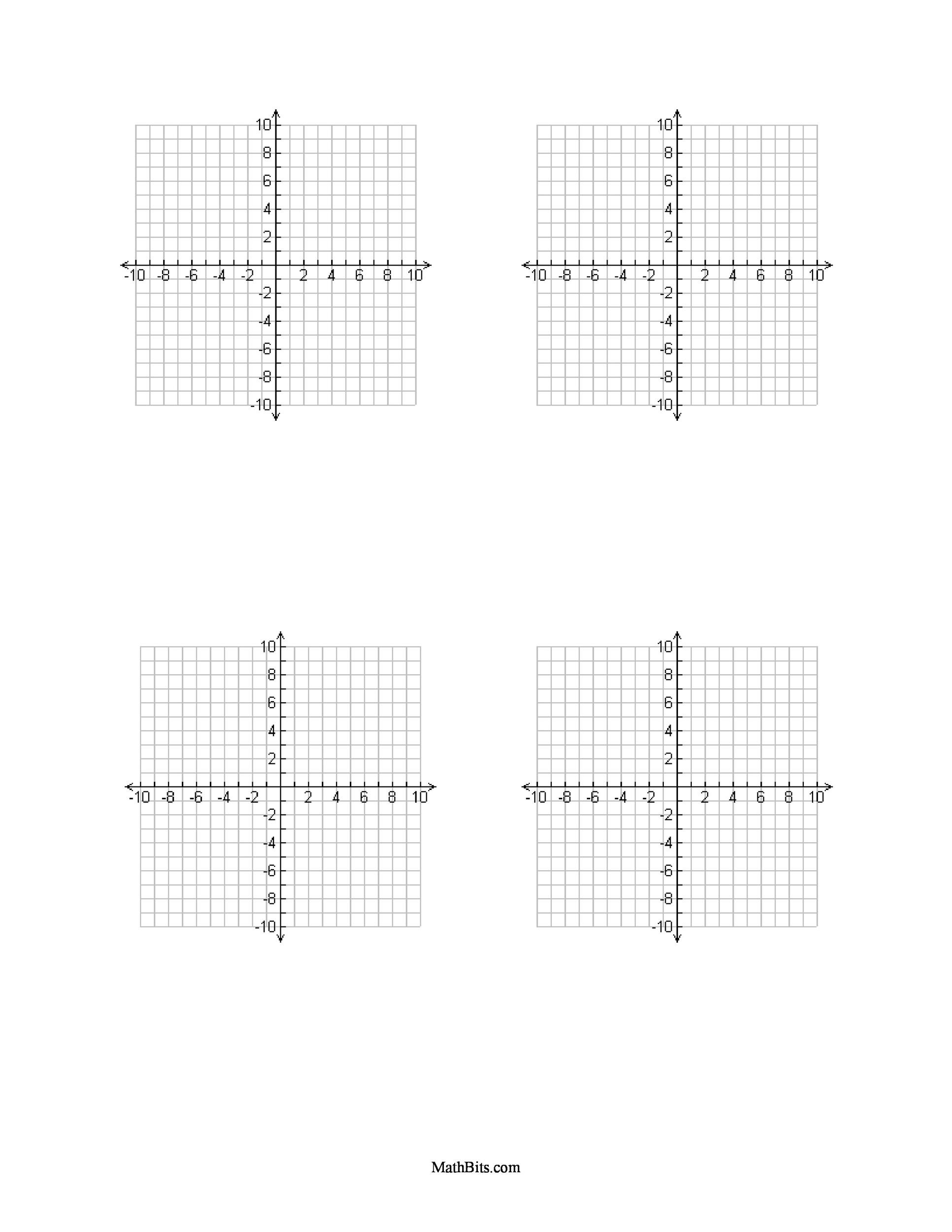 Printable Graph Paper Template 03  Graph Sheet Download