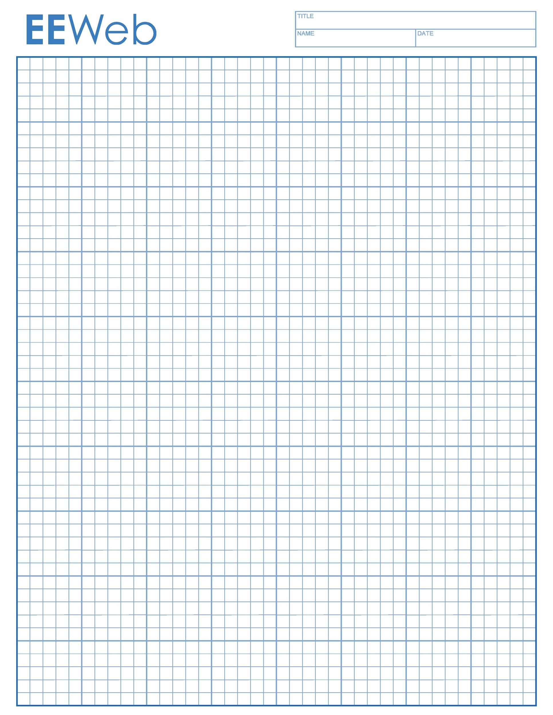Free Graph Paper Template 05