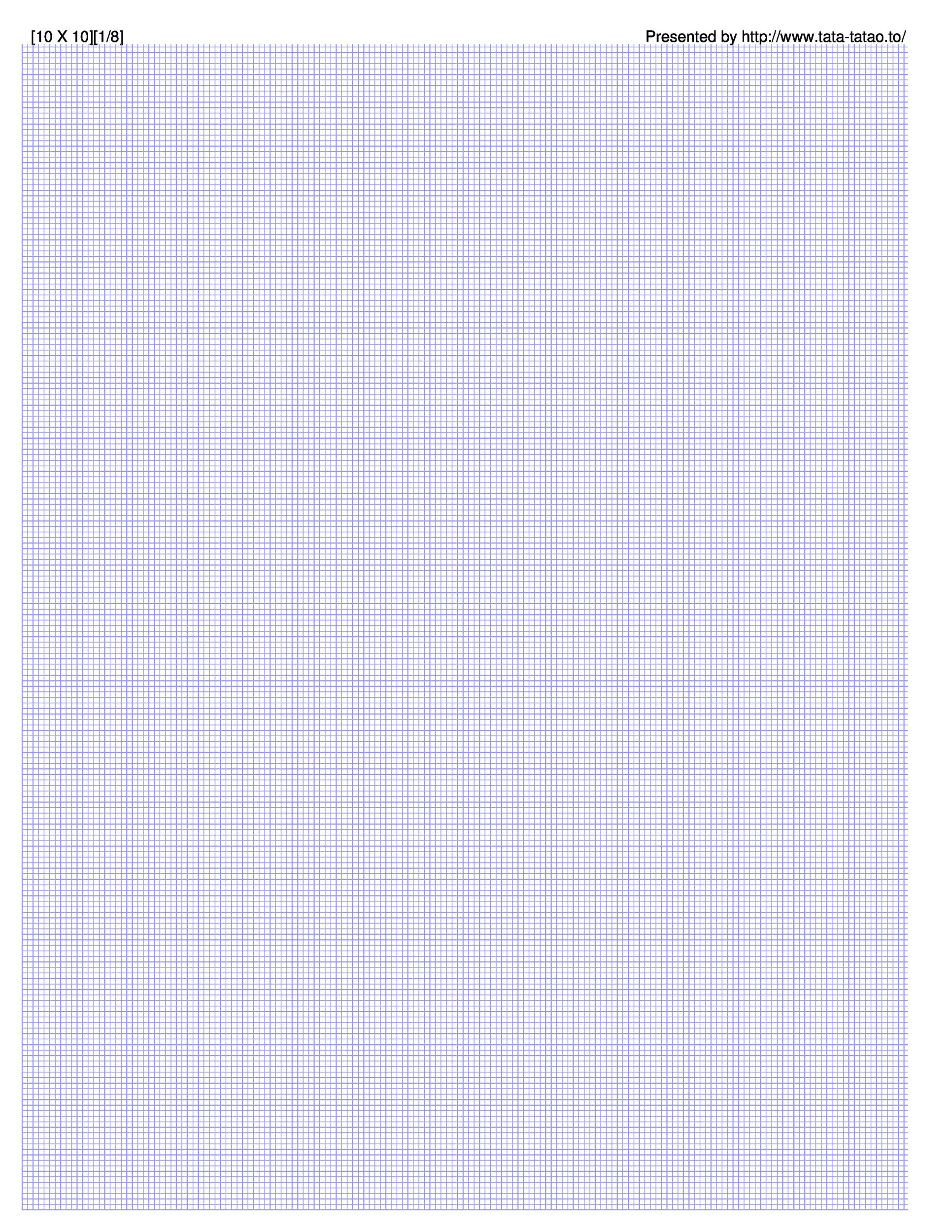 Free Graph Paper Template 09