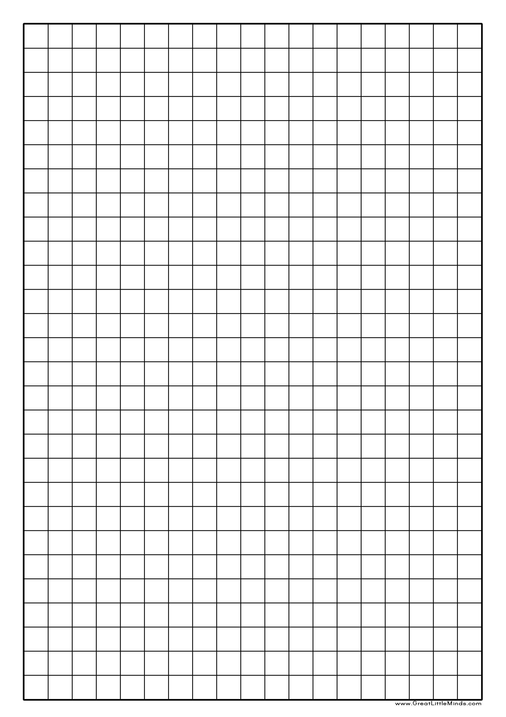 Printable Graph Paper Template 15