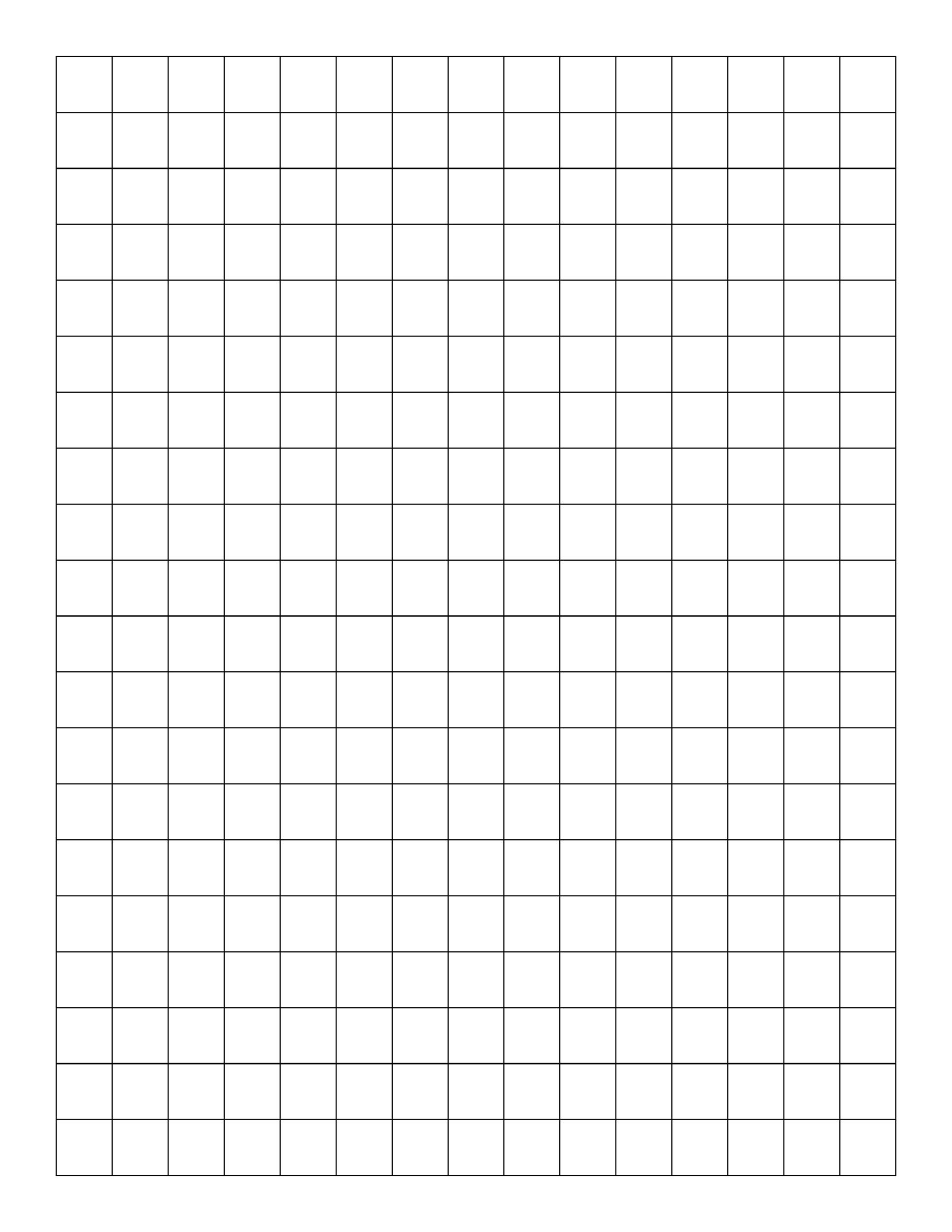 Free Graph Paper Template 16