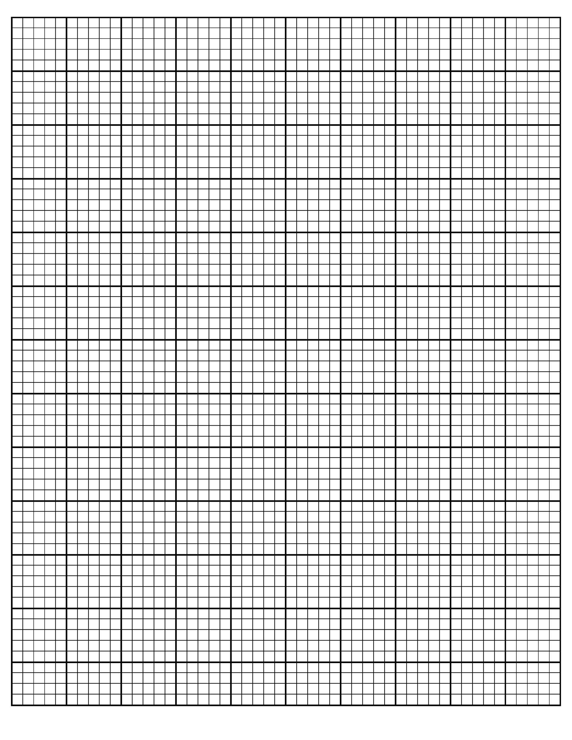Free Graph Paper Template 17