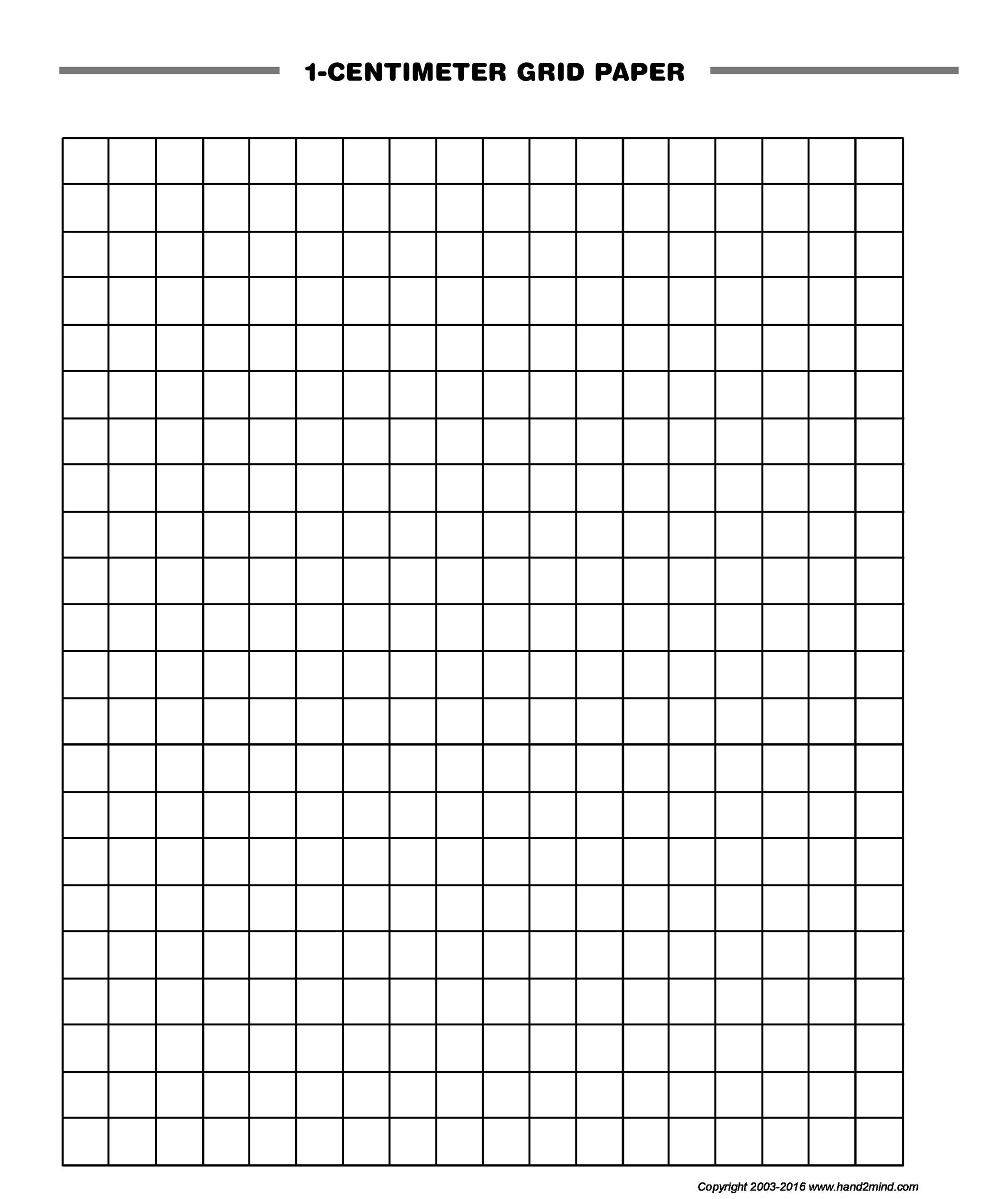 Free Graph Paper Template 20