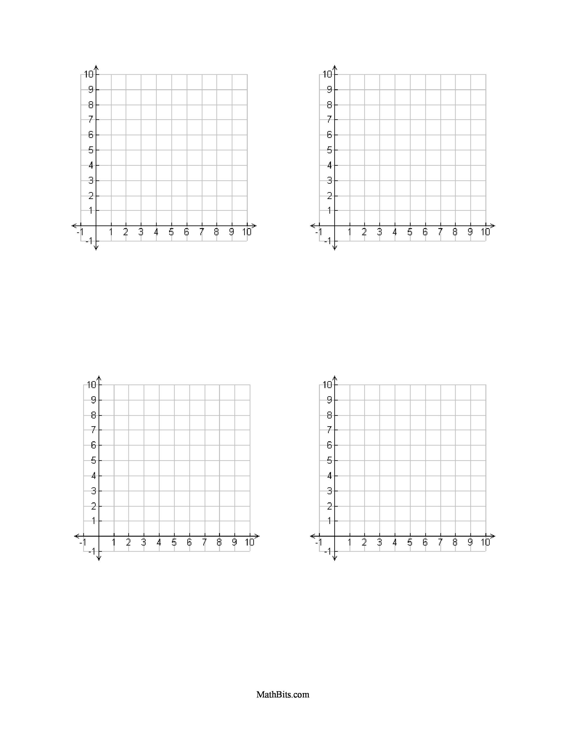 Free Graph Paper Template 29