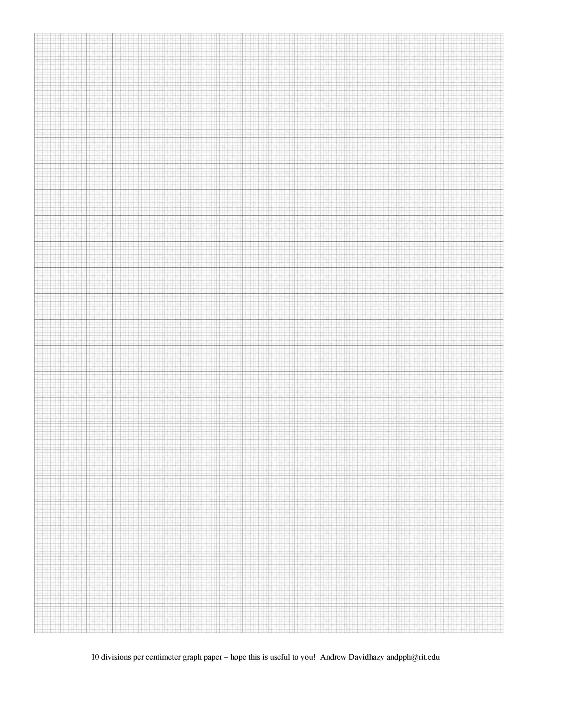 Free Graph Paper Template 33