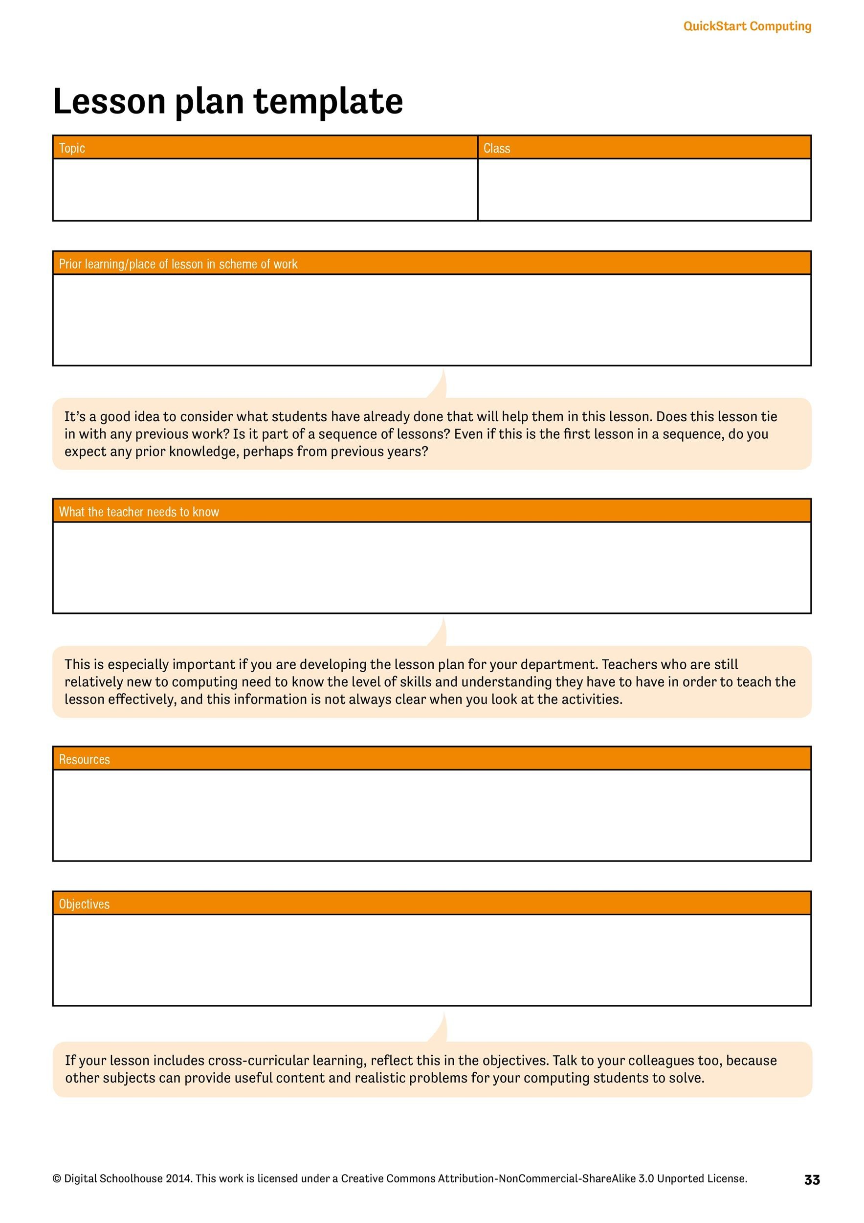 FREE Lesson Plan Templates Common Core Preschool Weekly - Lesson plan templates free